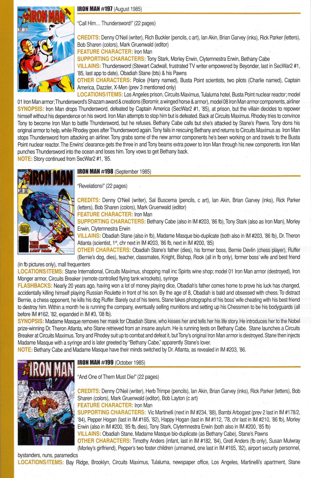 Read online Official Index to the Marvel Universe comic -  Issue #6 - 36