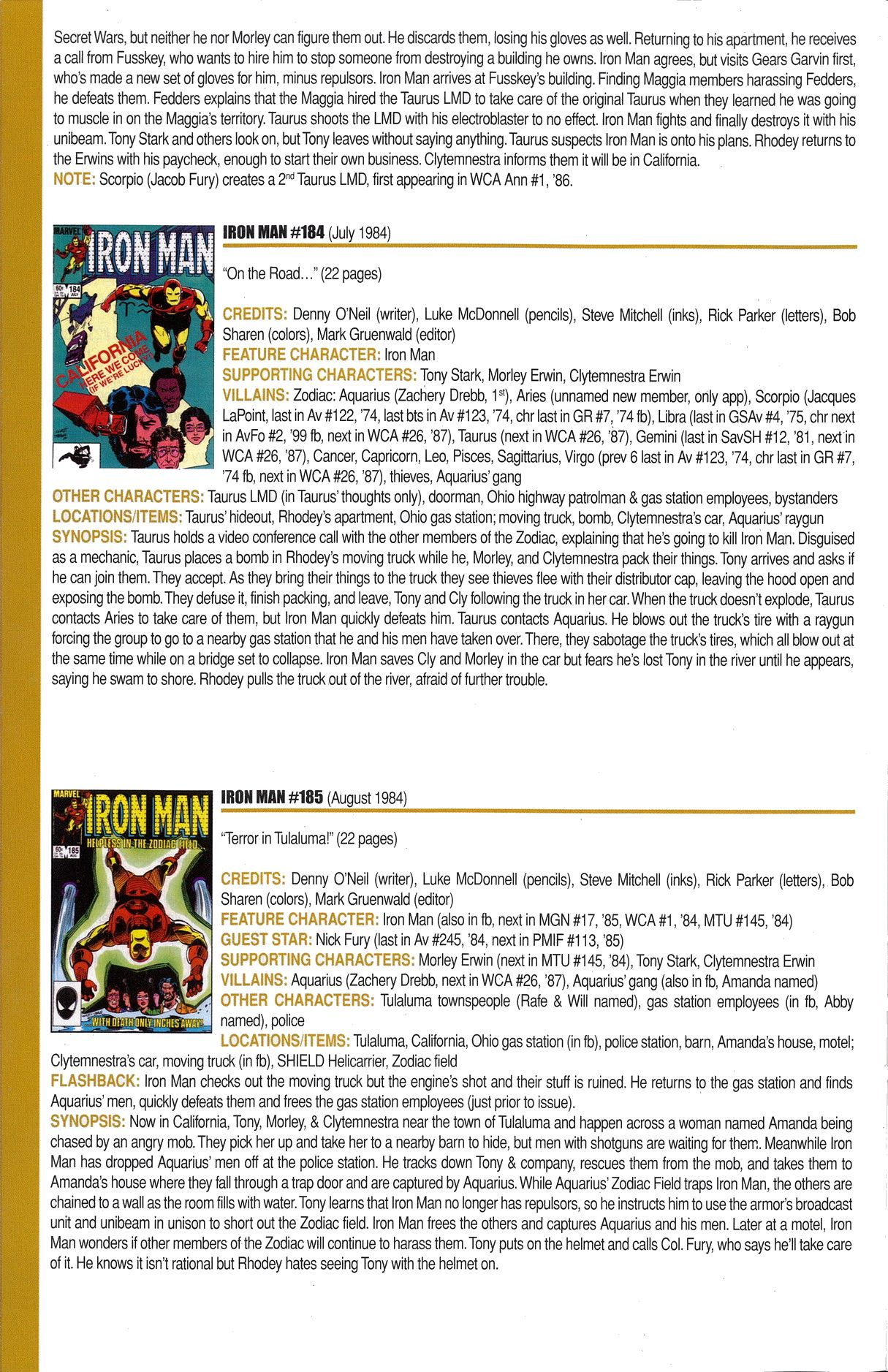 Read online Official Index to the Marvel Universe comic -  Issue #6 - 30