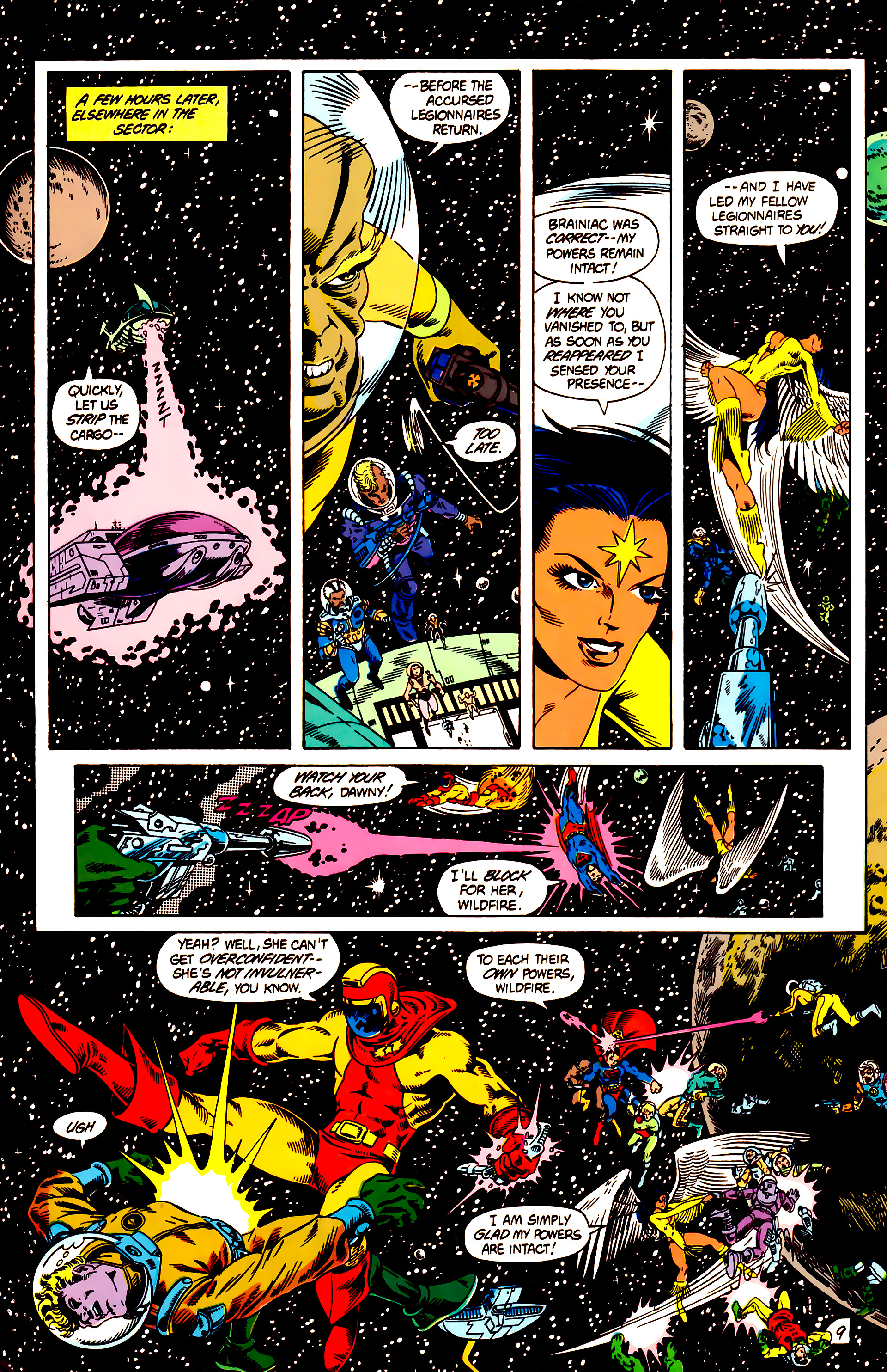 Legion of Super-Heroes (1984) 12 Page 9