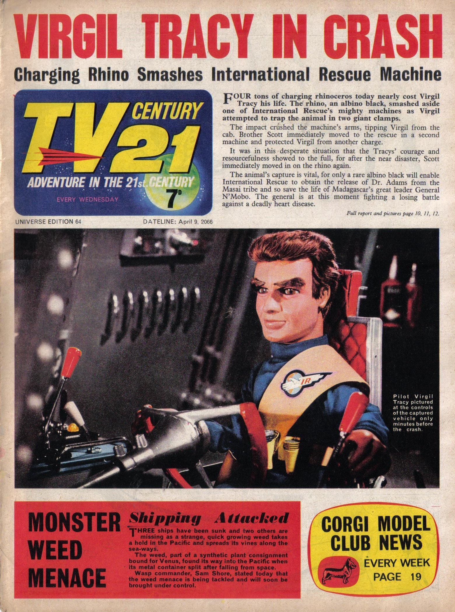 Read online TV Century 21 (TV 21) comic -  Issue #64 - 1