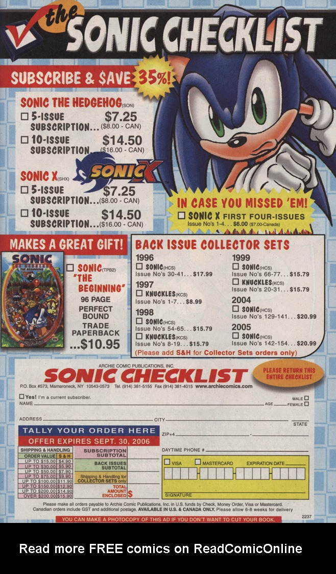 Read online Sonic X comic -  Issue #11 - 33