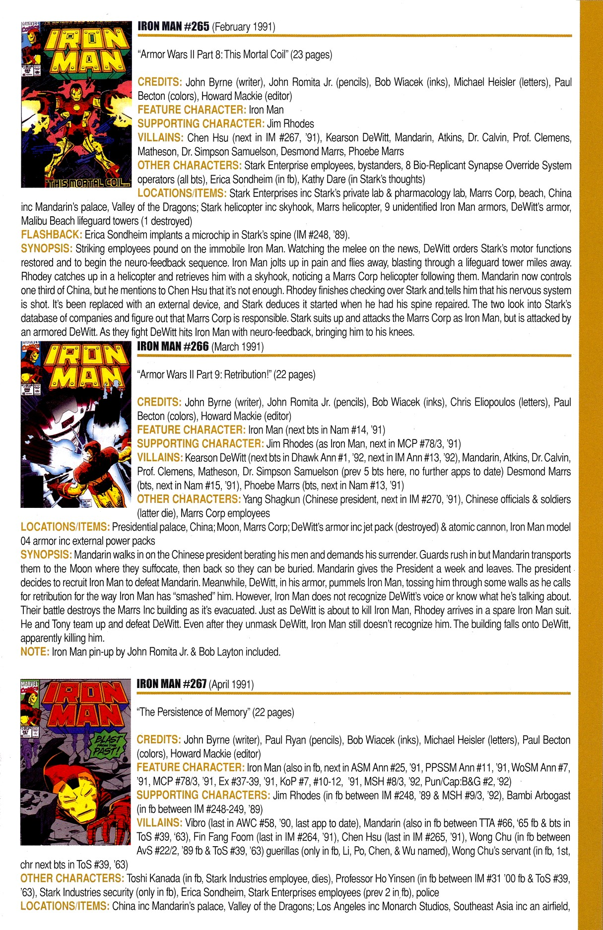 Read online Official Index to the Marvel Universe comic -  Issue #8 - 27