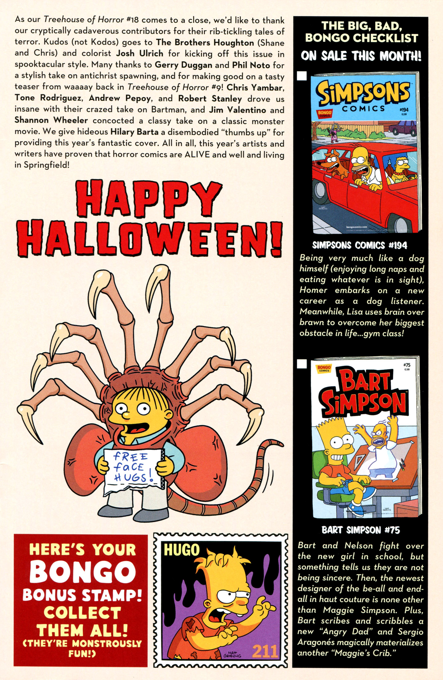 Read online Treehouse of Horror comic -  Issue #18 - 47
