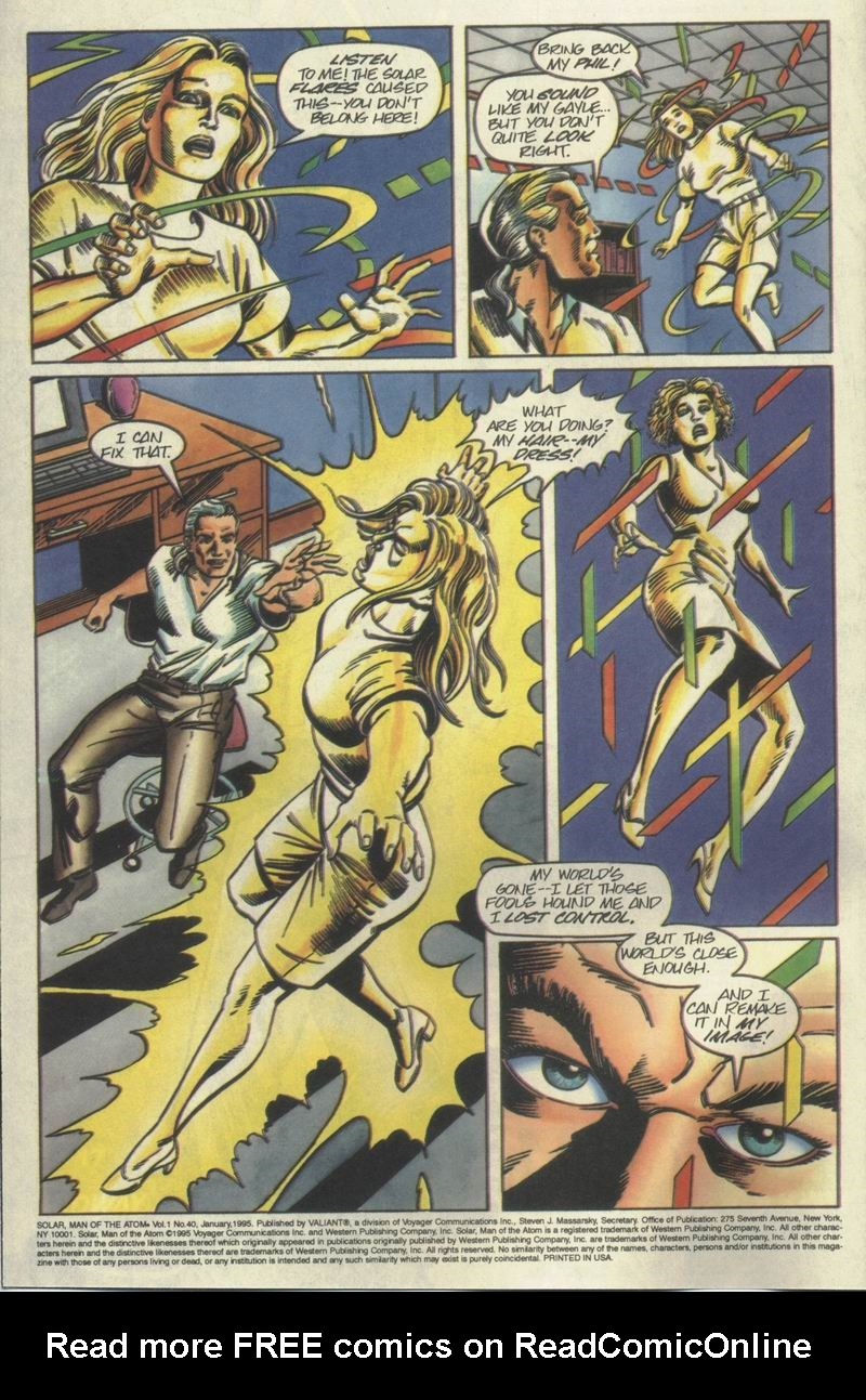 Read online Solar, Man of the Atom comic -  Issue #40 - 3