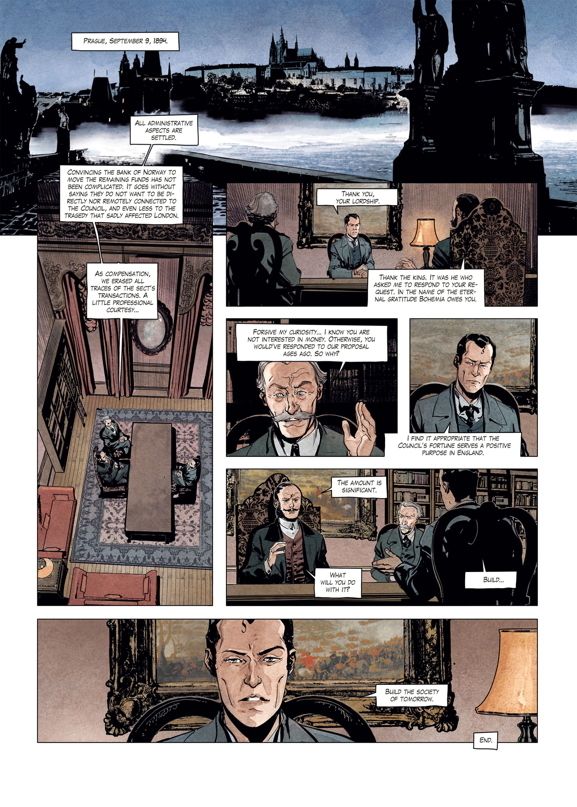 Read online Sherlock Holmes Society Tome 4 : Contamination comic -  Issue # Full - 54
