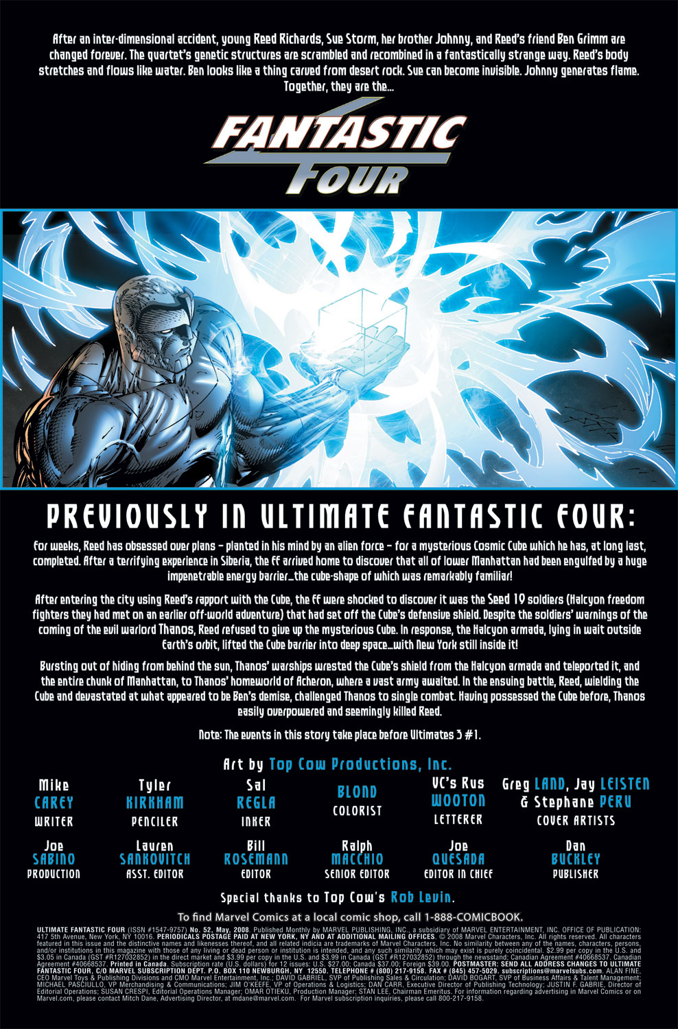 Read online Ultimate Fantastic Four (2004) comic -  Issue #52 - 2