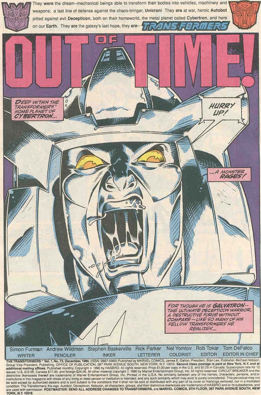 The Transformers (UK) 315 Page 2
