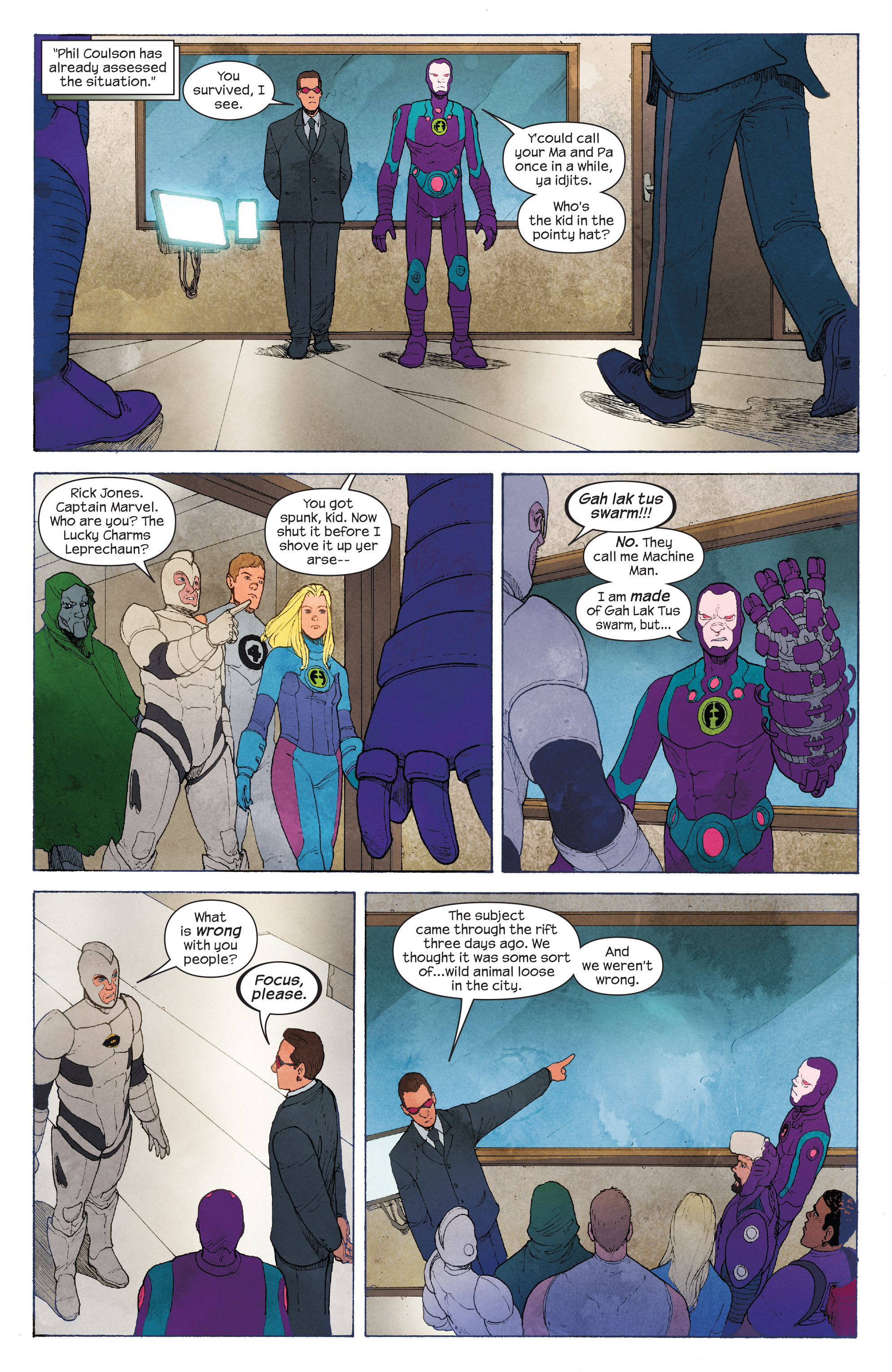 Read online Ultimate FF comic -  Issue #4 - 17