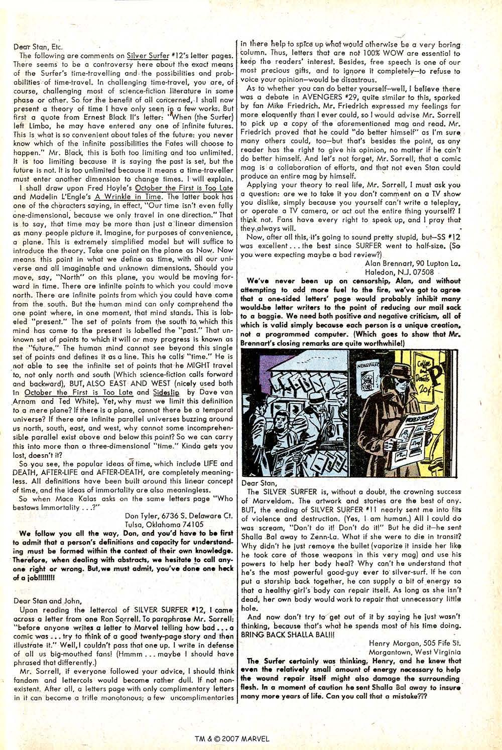 Read online Silver Surfer (1968) comic -  Issue #16 - 33