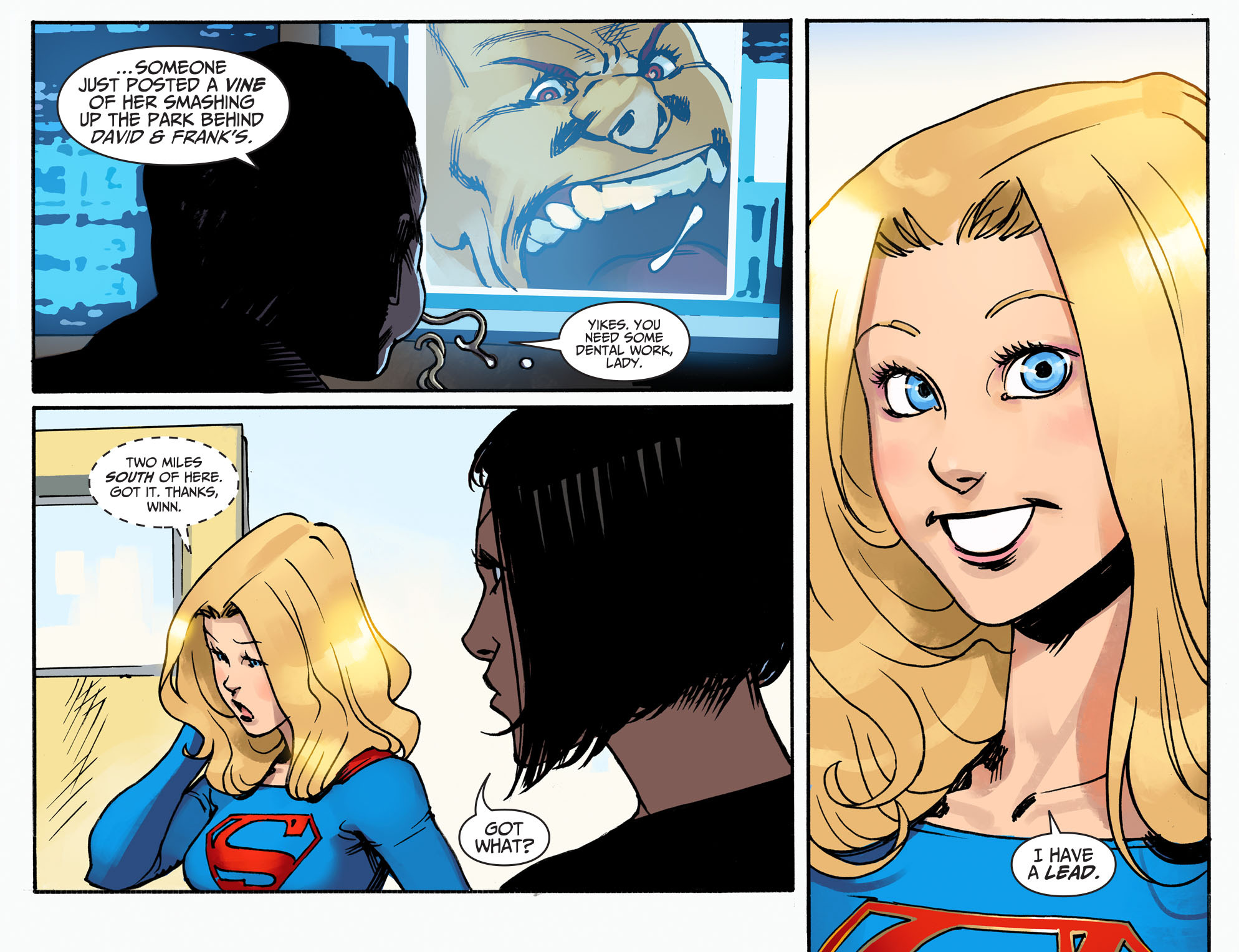 Read online Adventures of Supergirl comic -  Issue #2 - 10