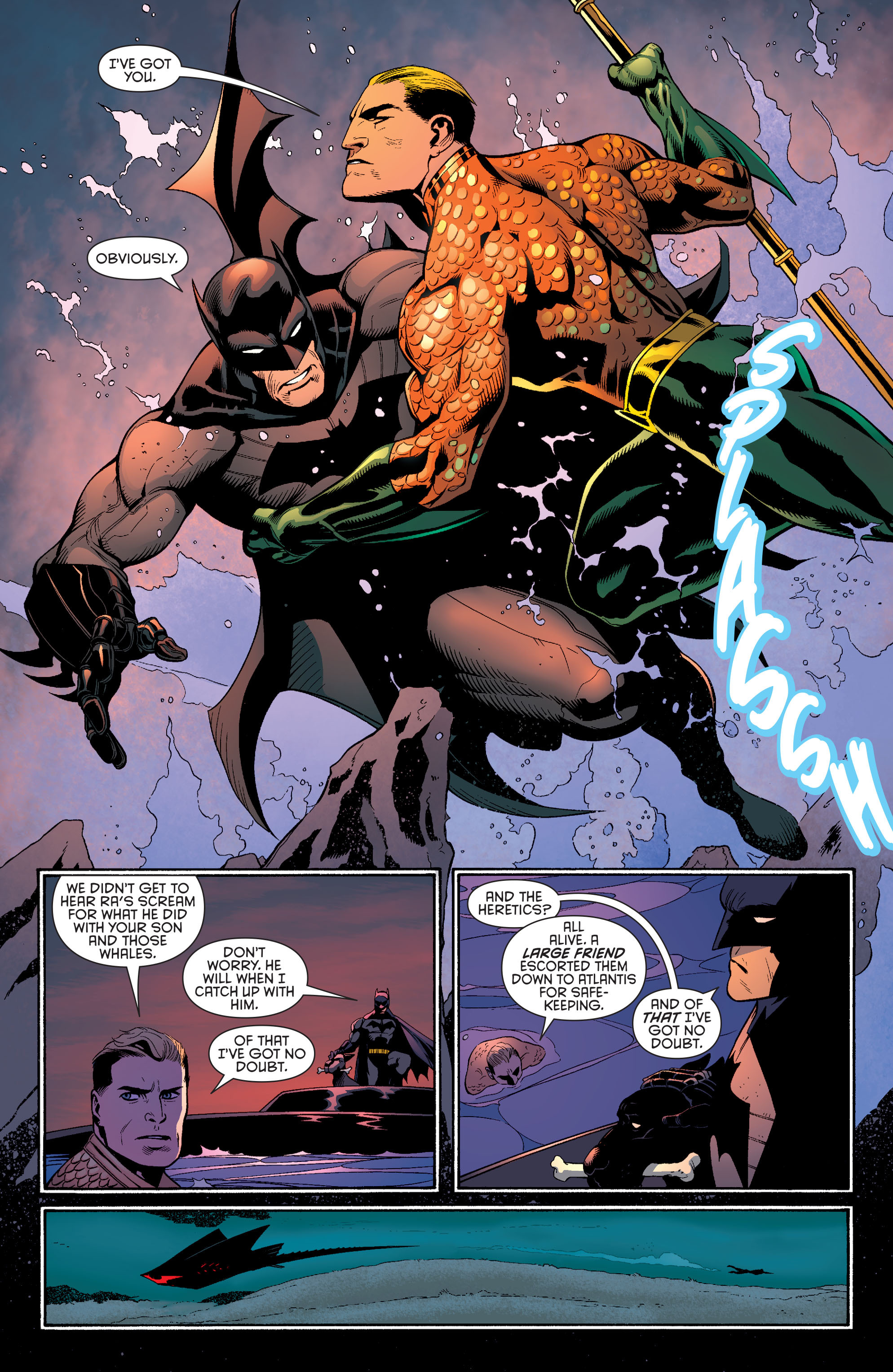 Read online Batman and Robin (2011) comic -  Issue #29 - Batman and Aquaman - 19