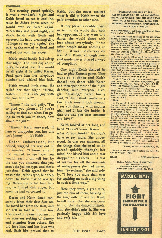 Love Romances (1949) issue 48 - Page 26