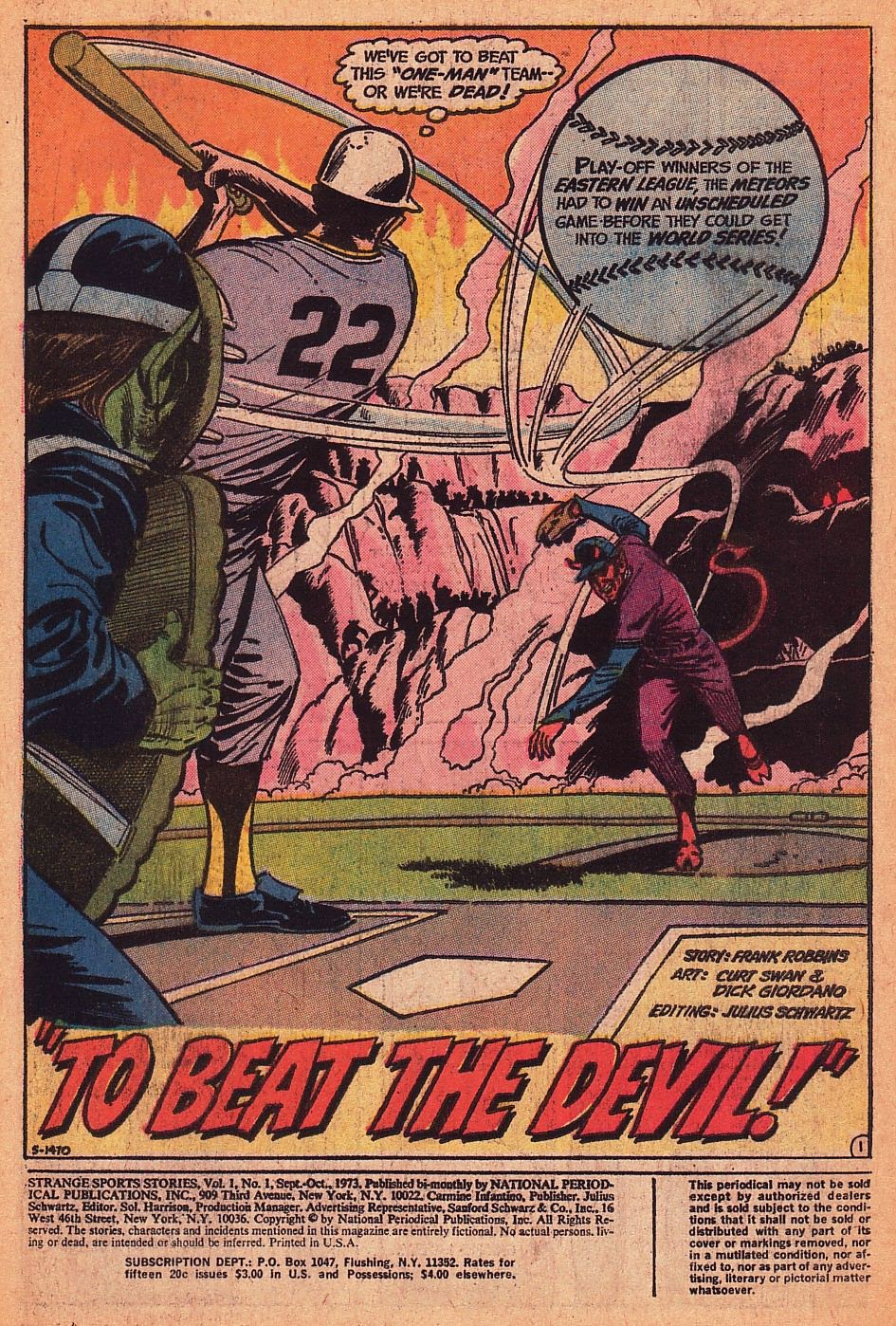 Read online Strange Sports Stories (1973) comic -  Issue #1 - 2