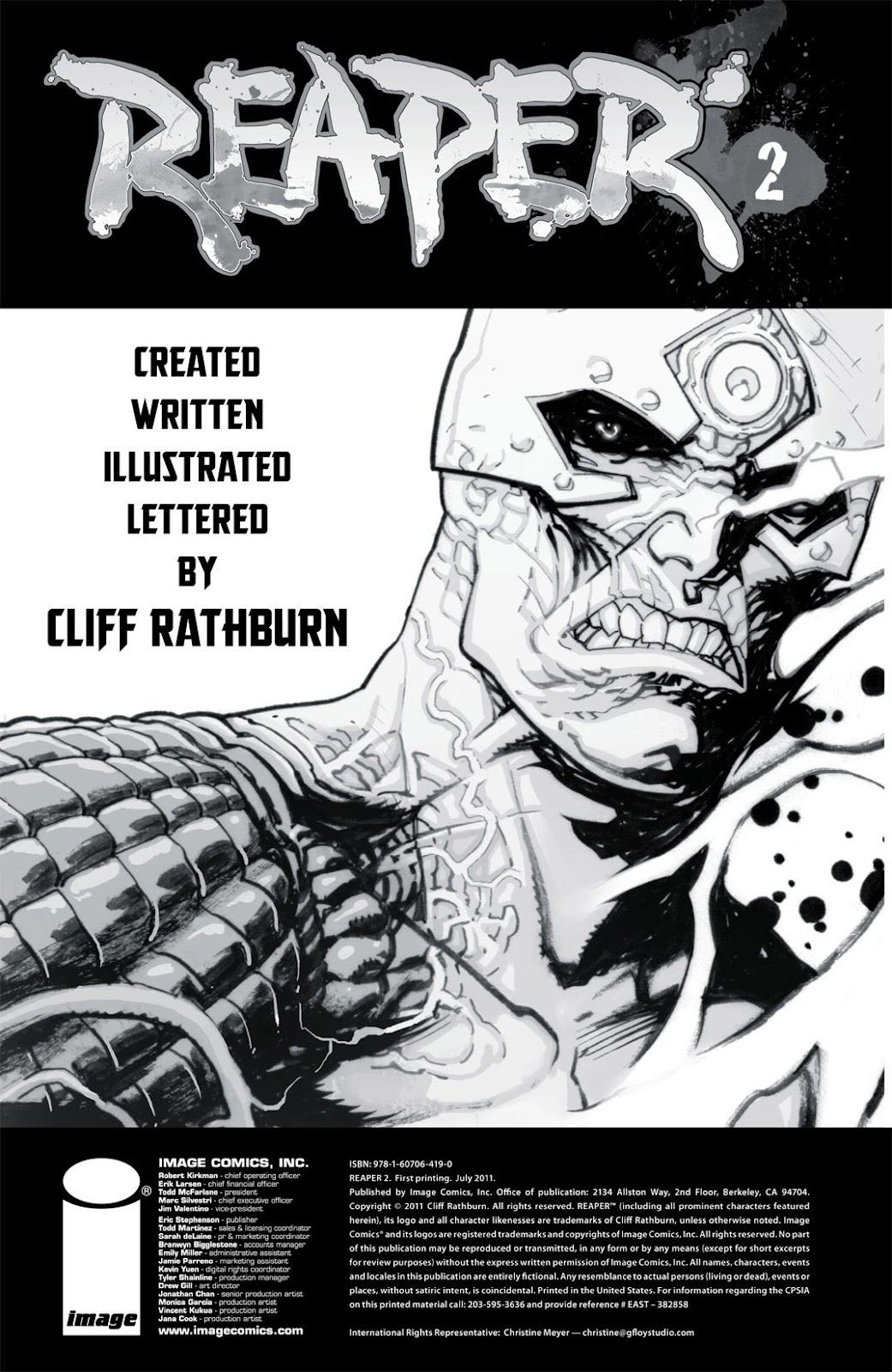Read online Reaper comic -  Issue #2 - 2
