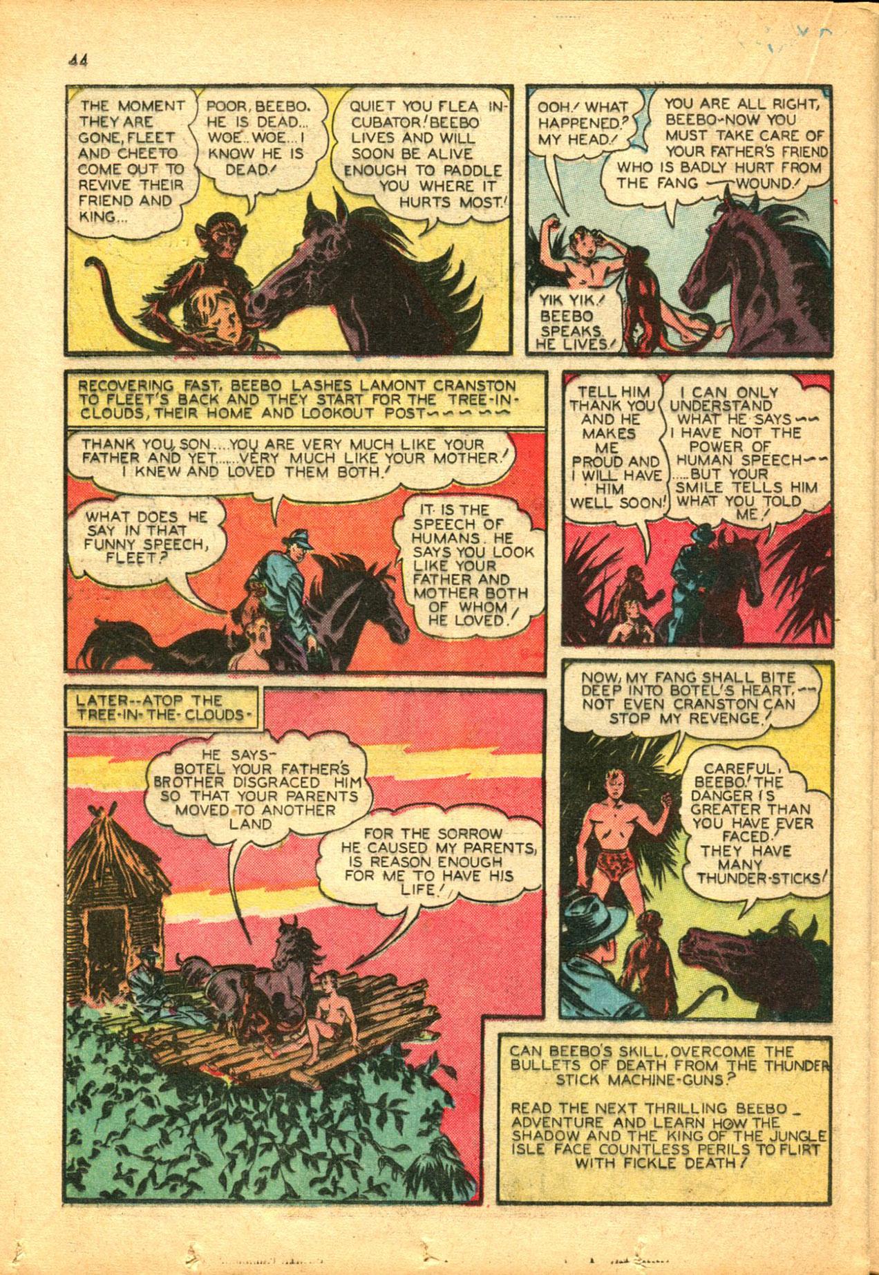 Read online Shadow Comics comic -  Issue #30 - 44