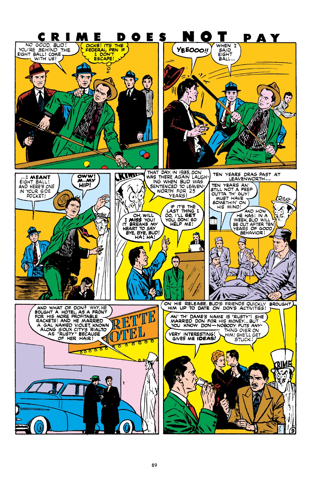 Read online Crime Does Not Pay Archives comic -  Issue # TPB 8 (Part 1) - 90