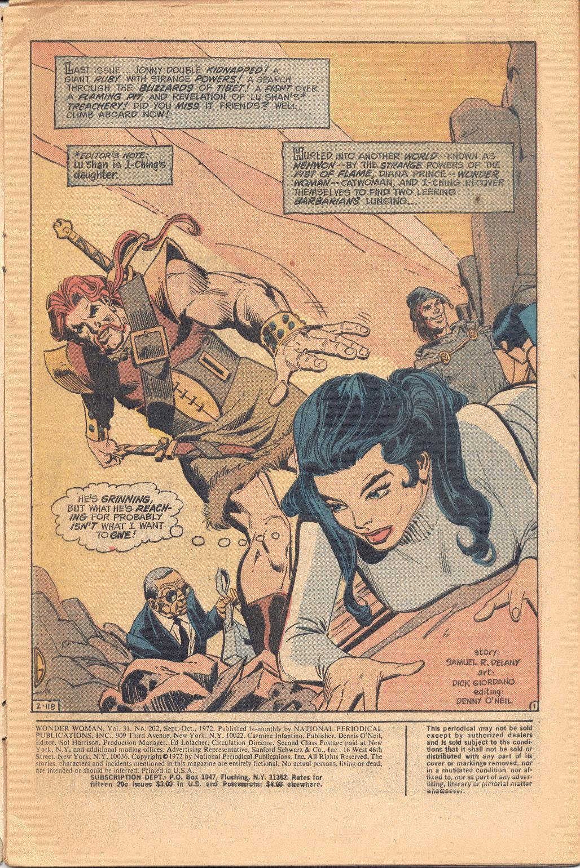 Read online Wonder Woman (1942) comic -  Issue #202 - 2
