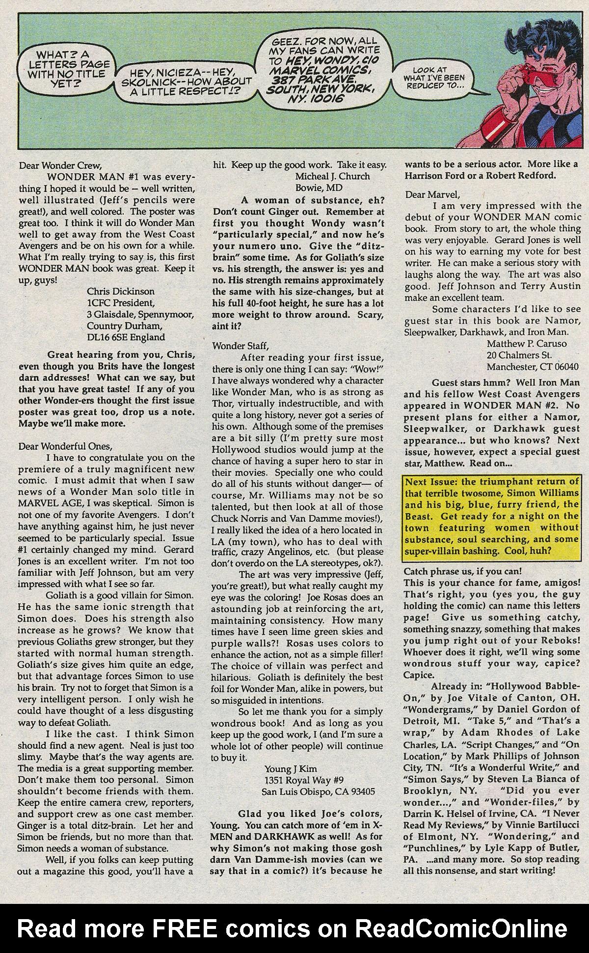 Read online Wonder Man (1991) comic -  Issue #4 - 25