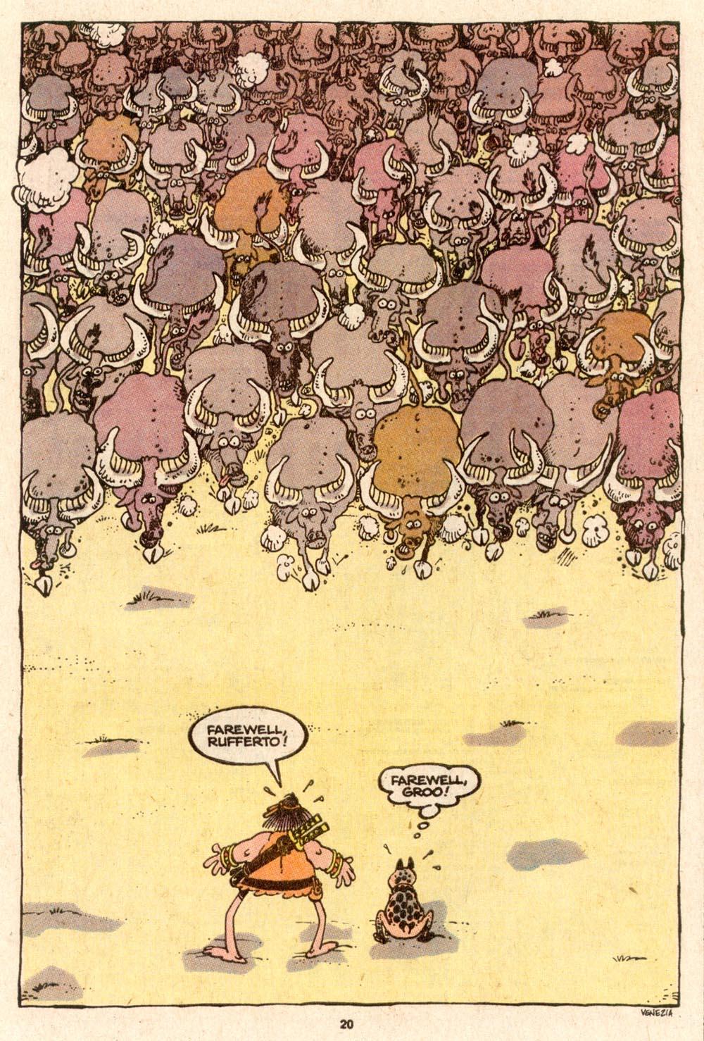 Read online Sergio Aragonés Groo the Wanderer comic -  Issue #62 - 21