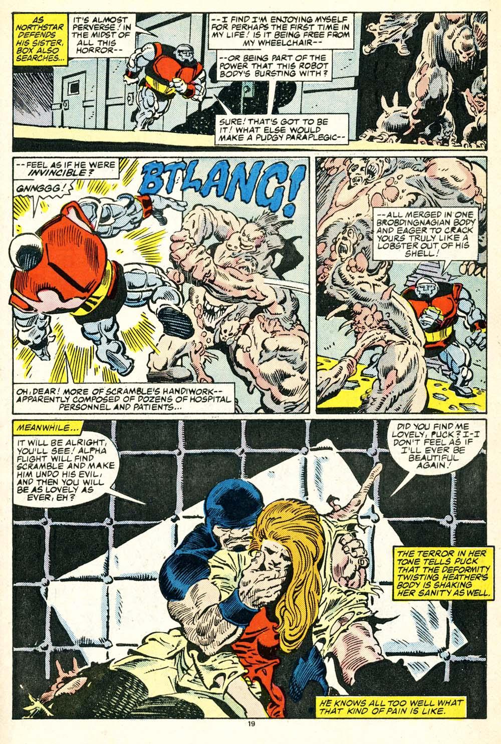 Read online Alpha Flight (1983) comic -  Issue #30 - 21
