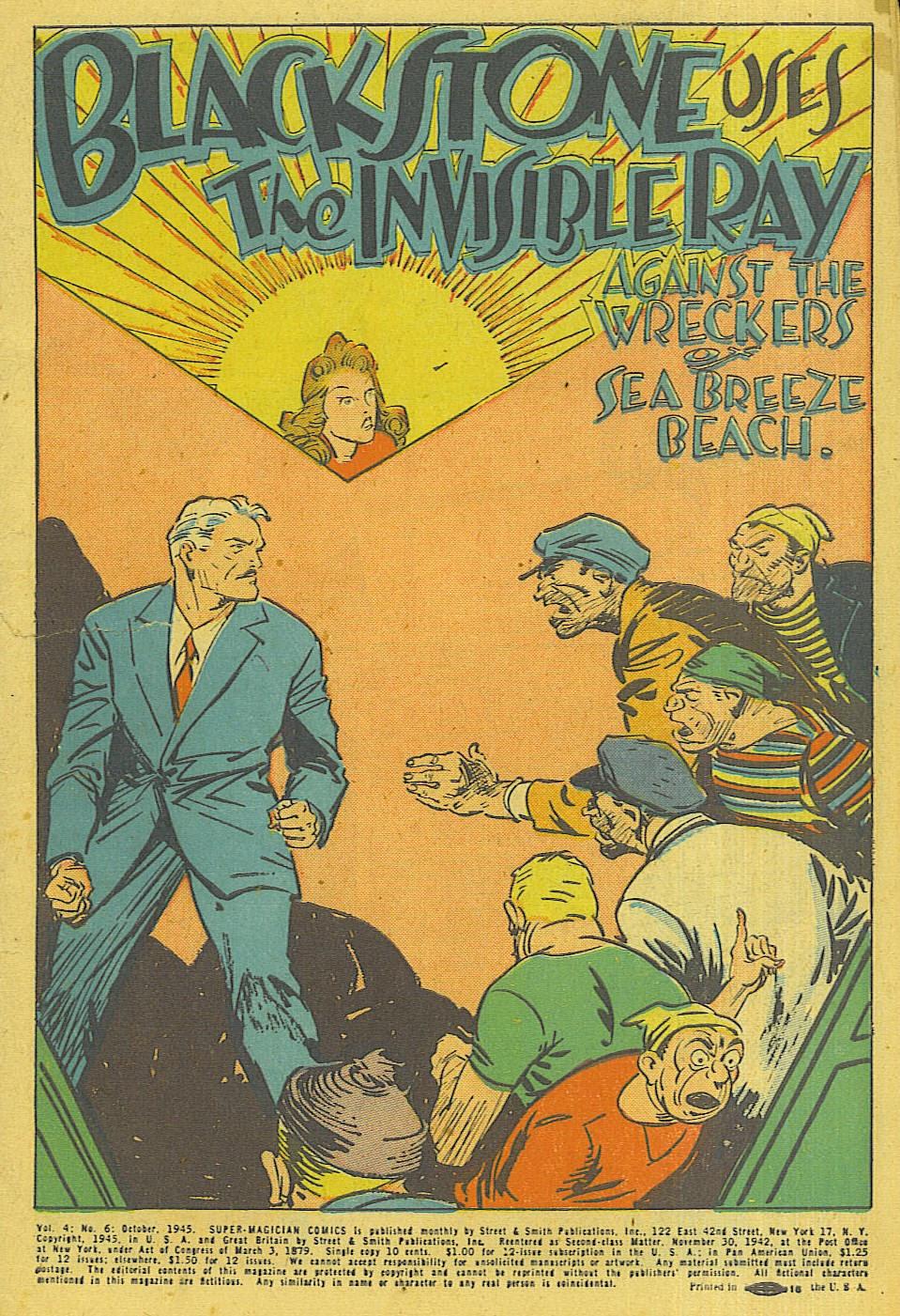 Read online Super-Magician Comics comic -  Issue #42 - 2