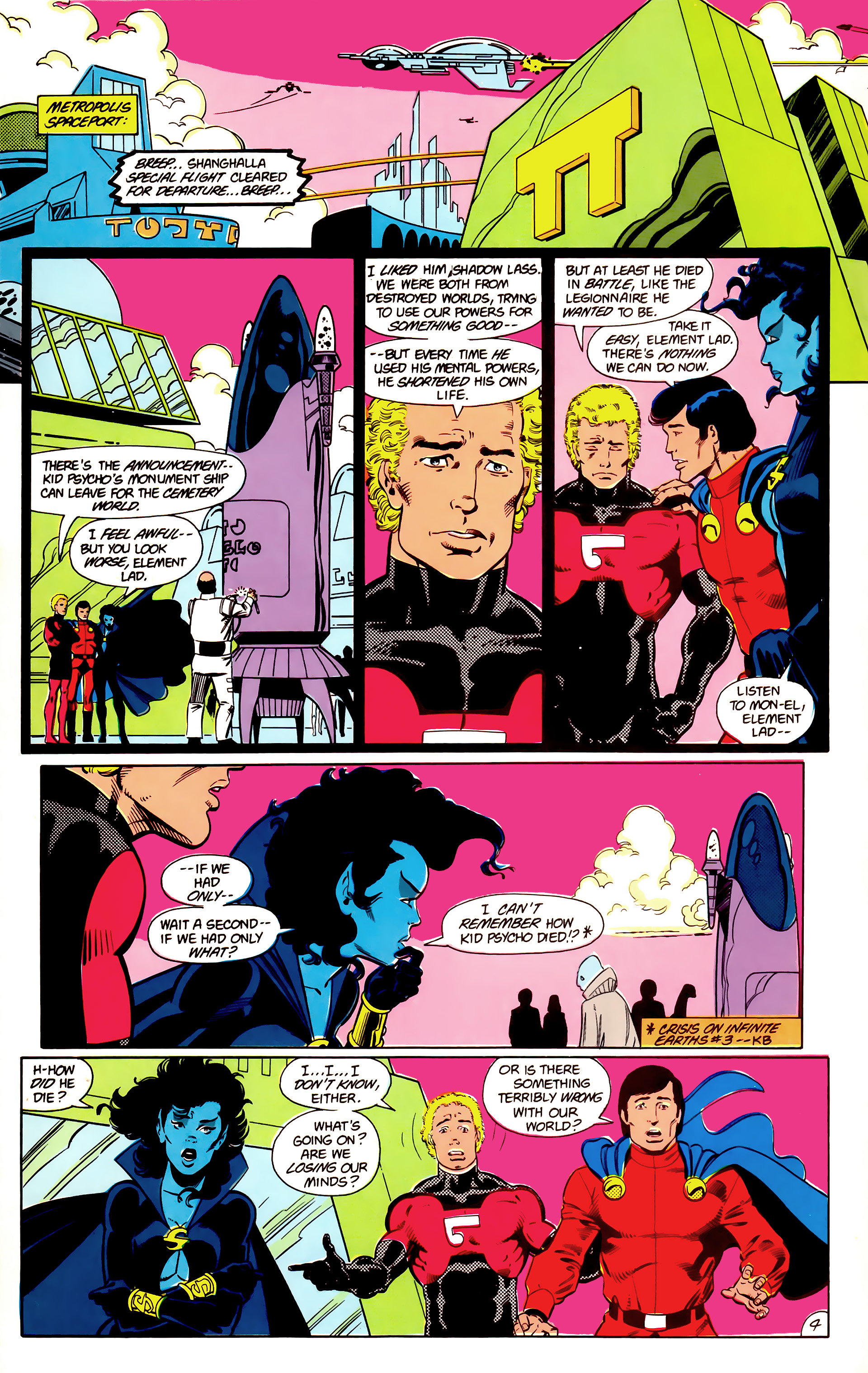 Legion of Super-Heroes (1984) 18 Page 4