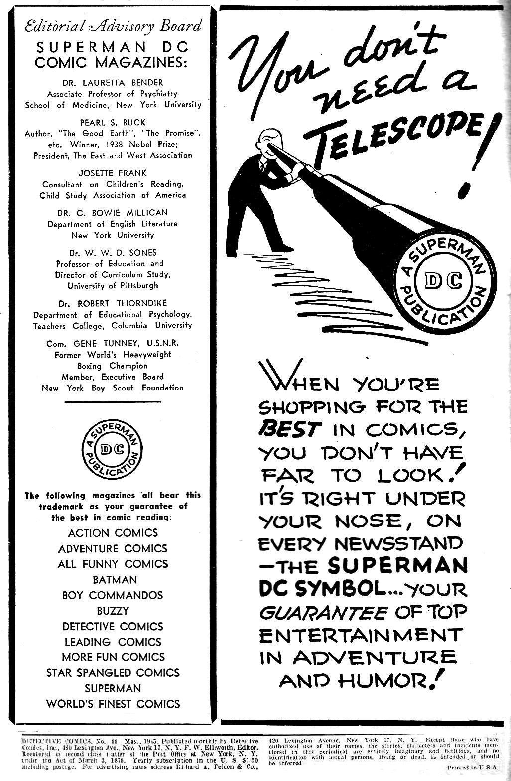 Read online Detective Comics (1937) comic -  Issue #99 - 3