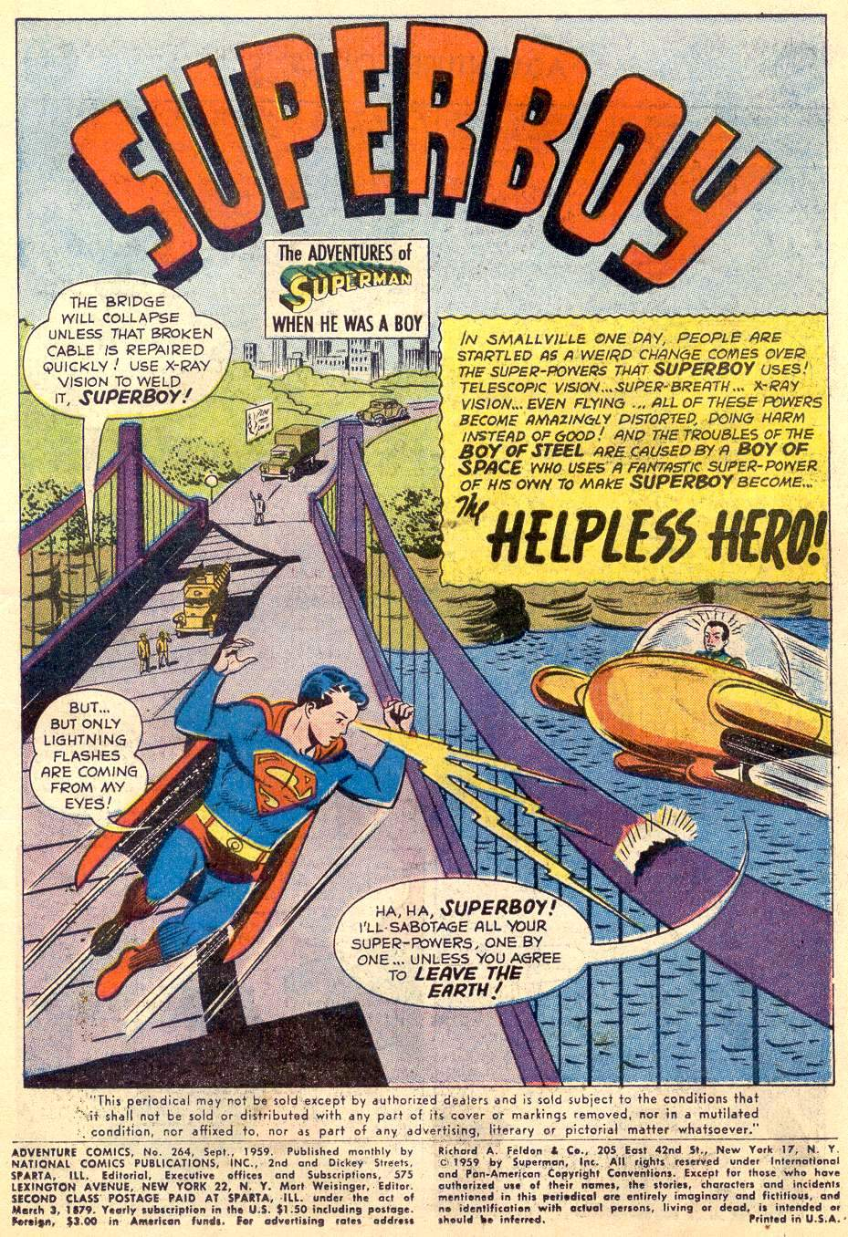 Read online Adventure Comics (1938) comic -  Issue #264 - 3