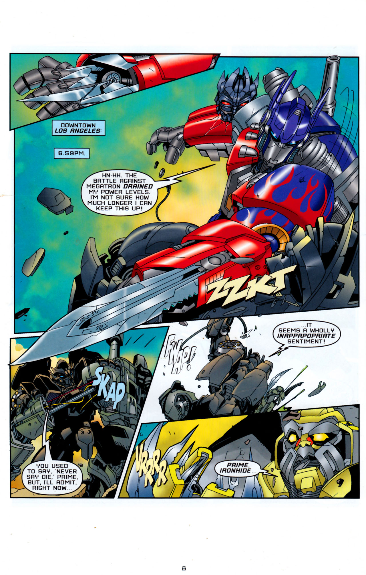 Read online Transformers: Saga of the Allspark comic -  Issue #4 - 11