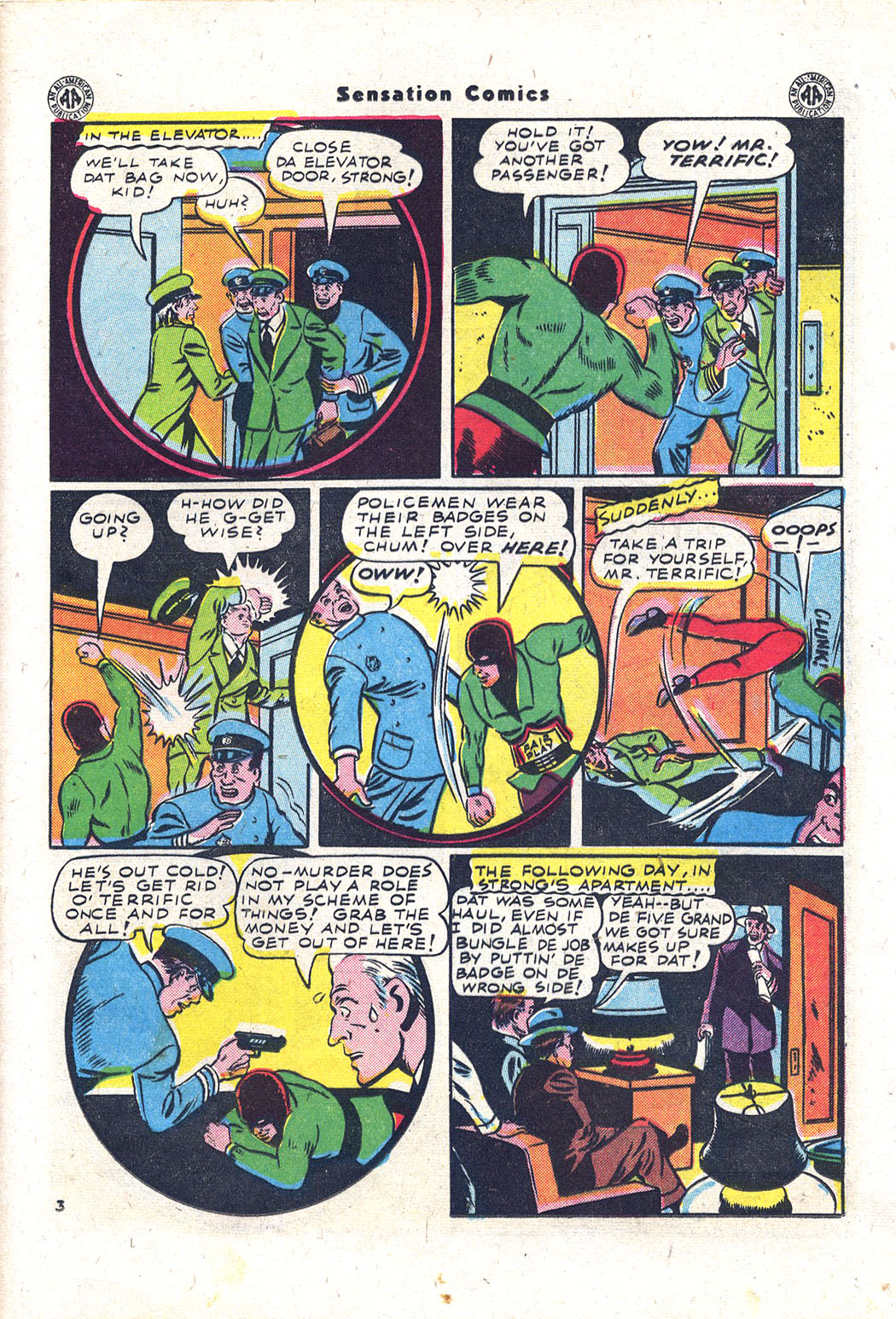 Read online Sensation (Mystery) Comics comic -  Issue #43 - 36