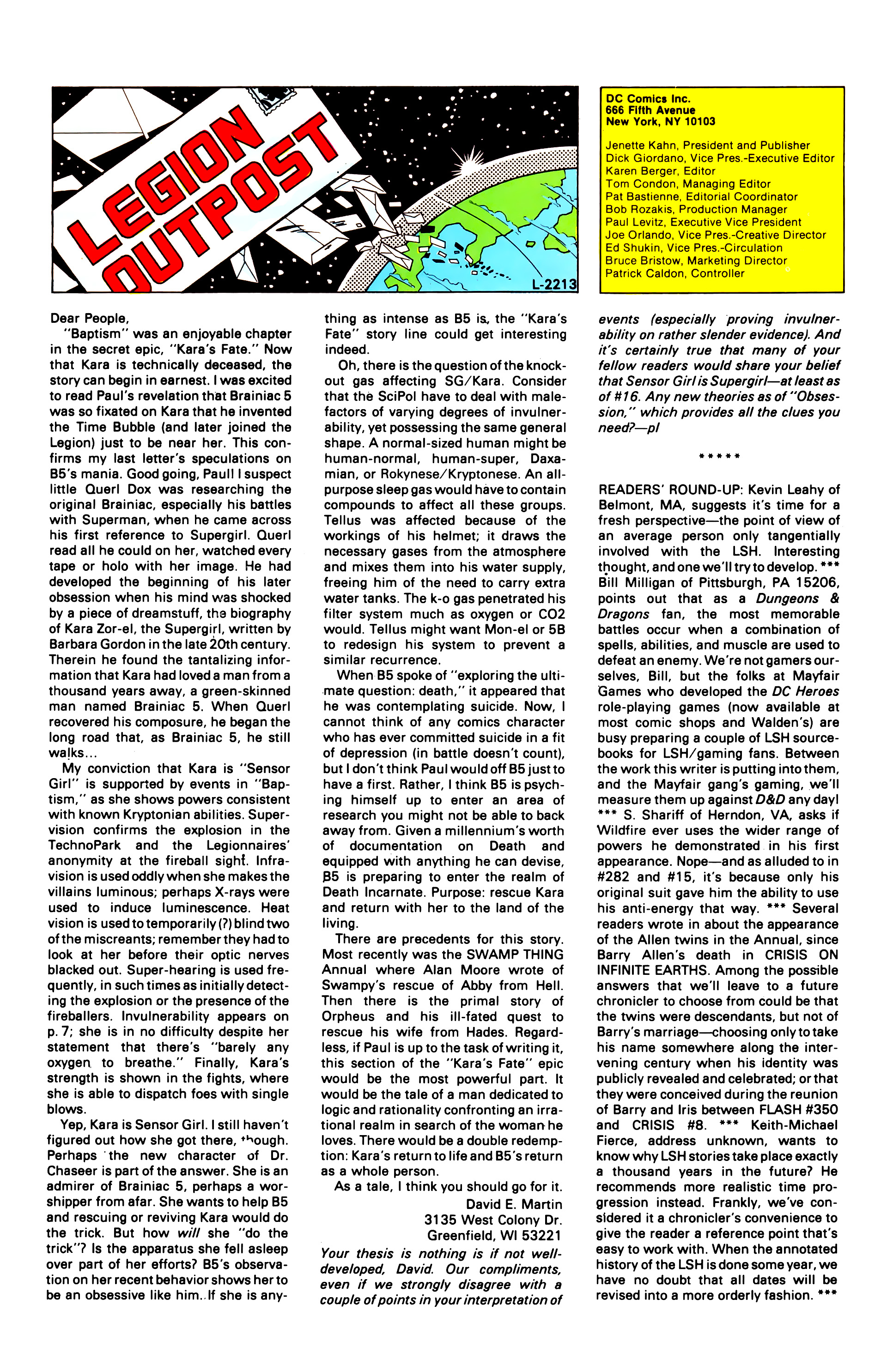 Legion of Super-Heroes (1984) 21 Page 25