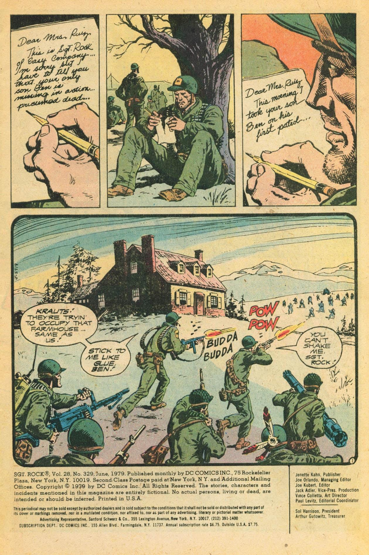 Read online Sgt. Rock comic -  Issue #329 - 3