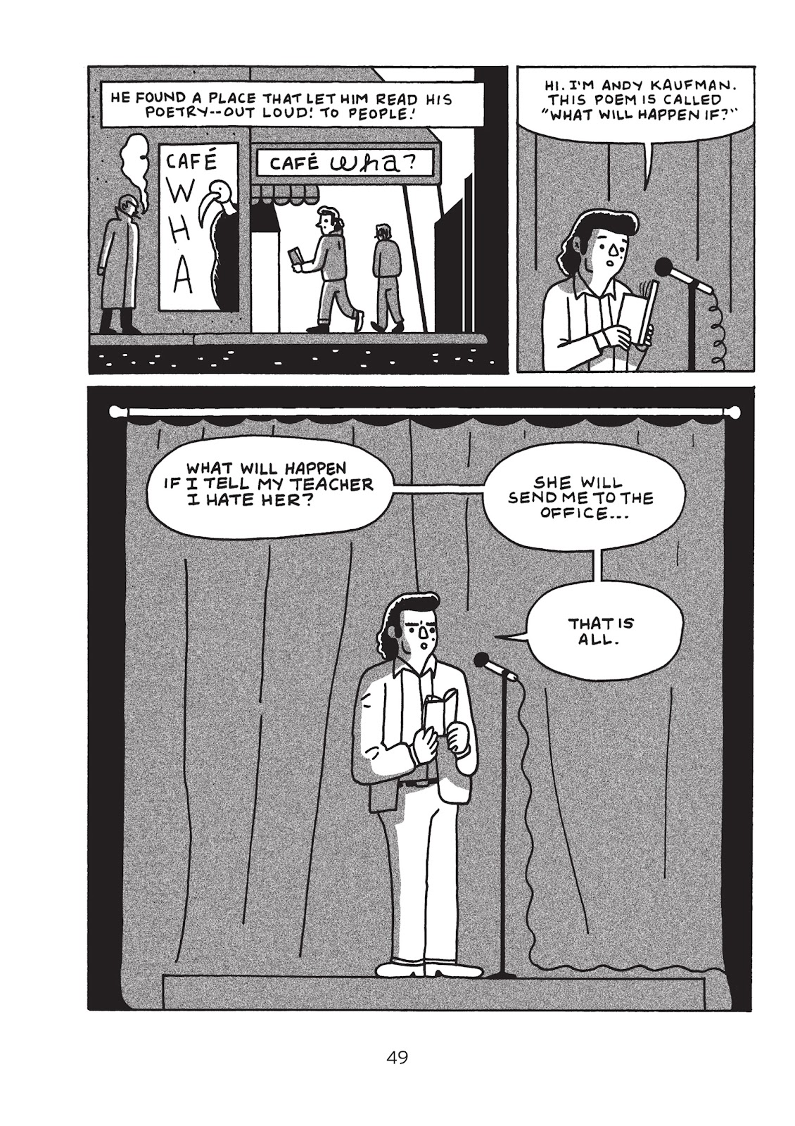 Read online Is This Guy For Real?: The Unbelievable Andy Kaufman comic -  Issue # TPB (Part 1) - 54