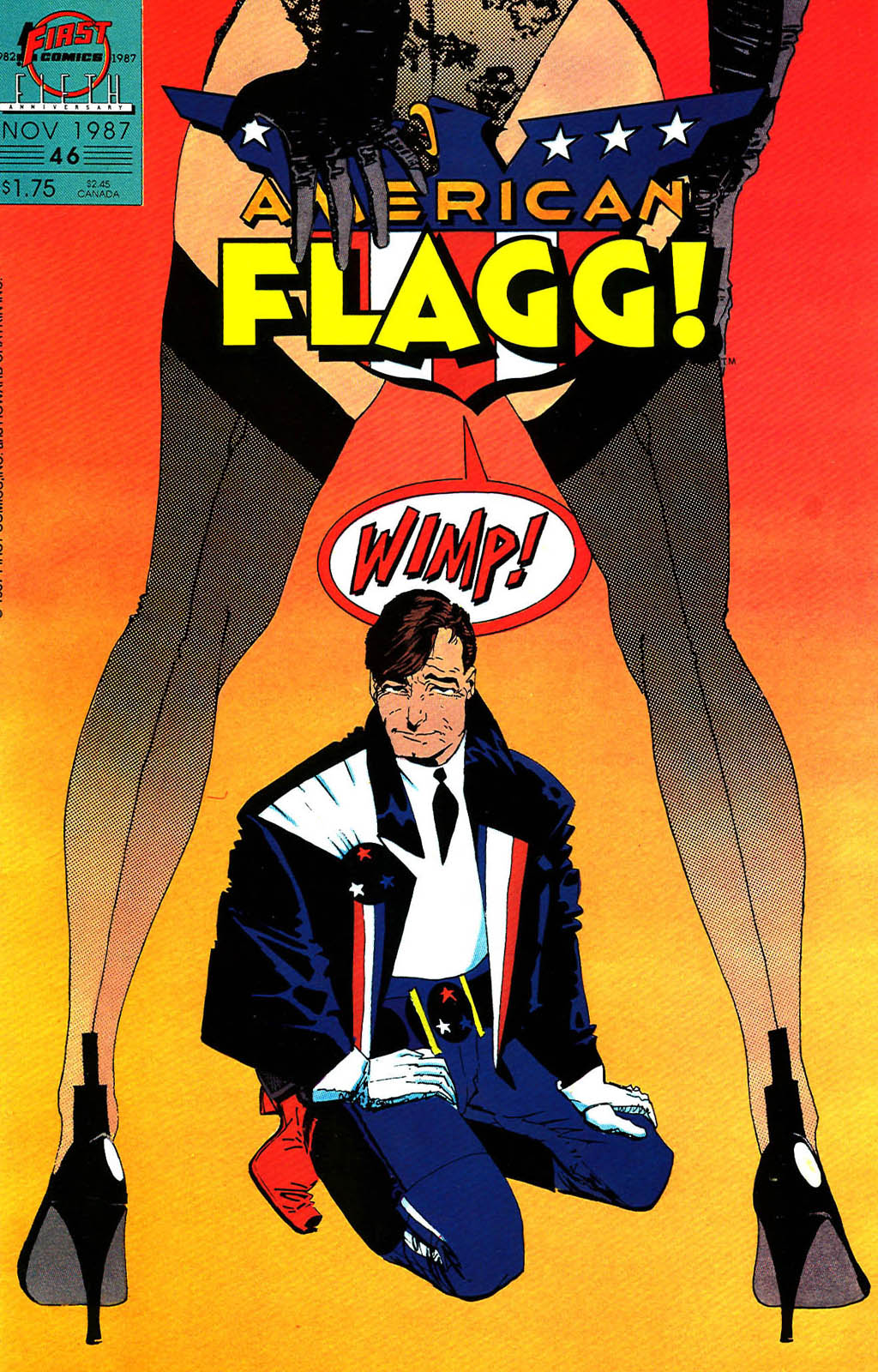 Read online American Flagg! comic -  Issue #46 - 1