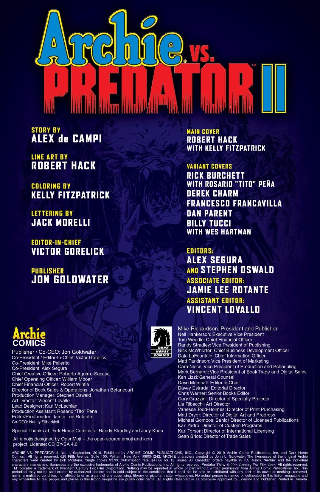 Archie vs. Predator II #1 #1 - English 2