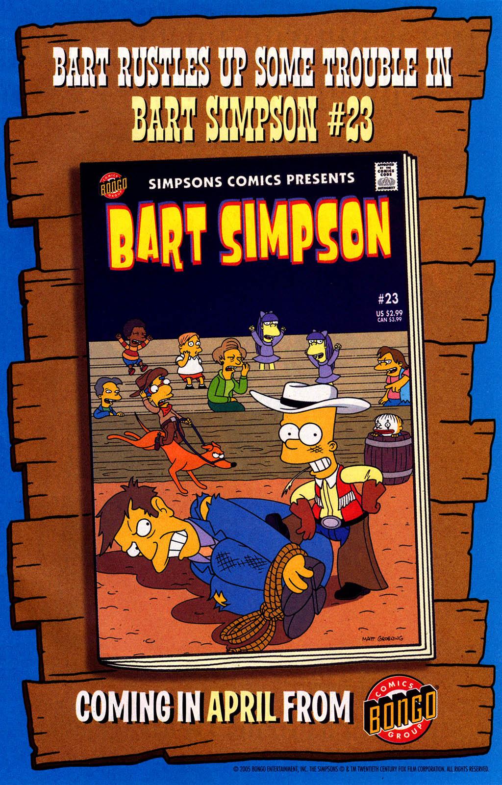 Read online Simpsons Comics Presents Bart Simpson comic -  Issue #22 - 31