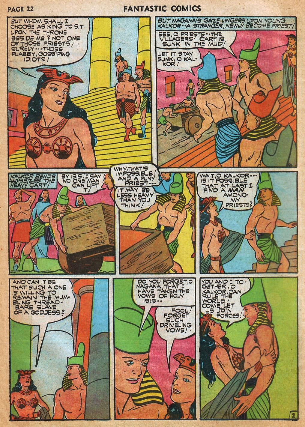 Read online Fantastic Comics comic -  Issue #22 - 24