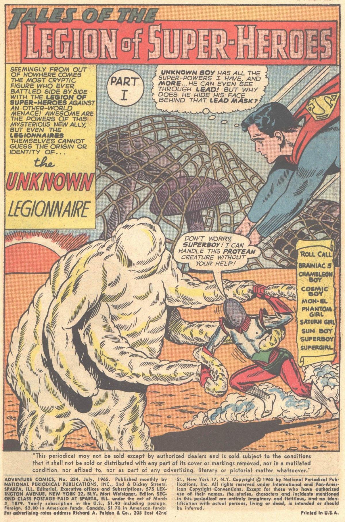 Read online Adventure Comics (1938) comic -  Issue #334 - 3