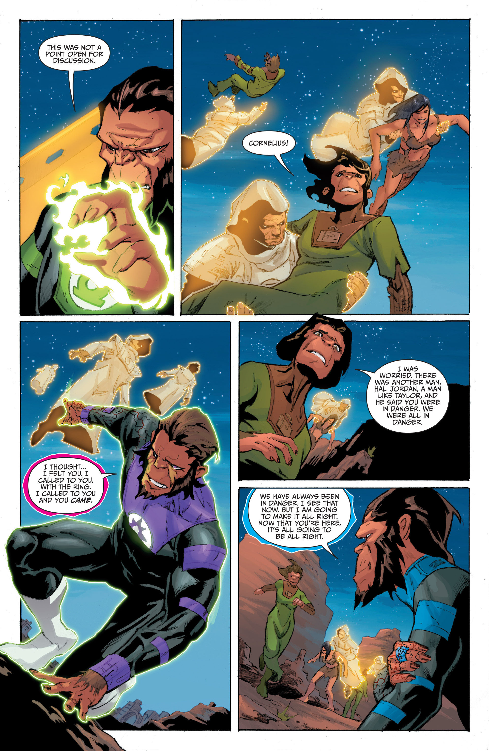 Read online Planet of the Apes/Green Lantern comic -  Issue #4 - 17