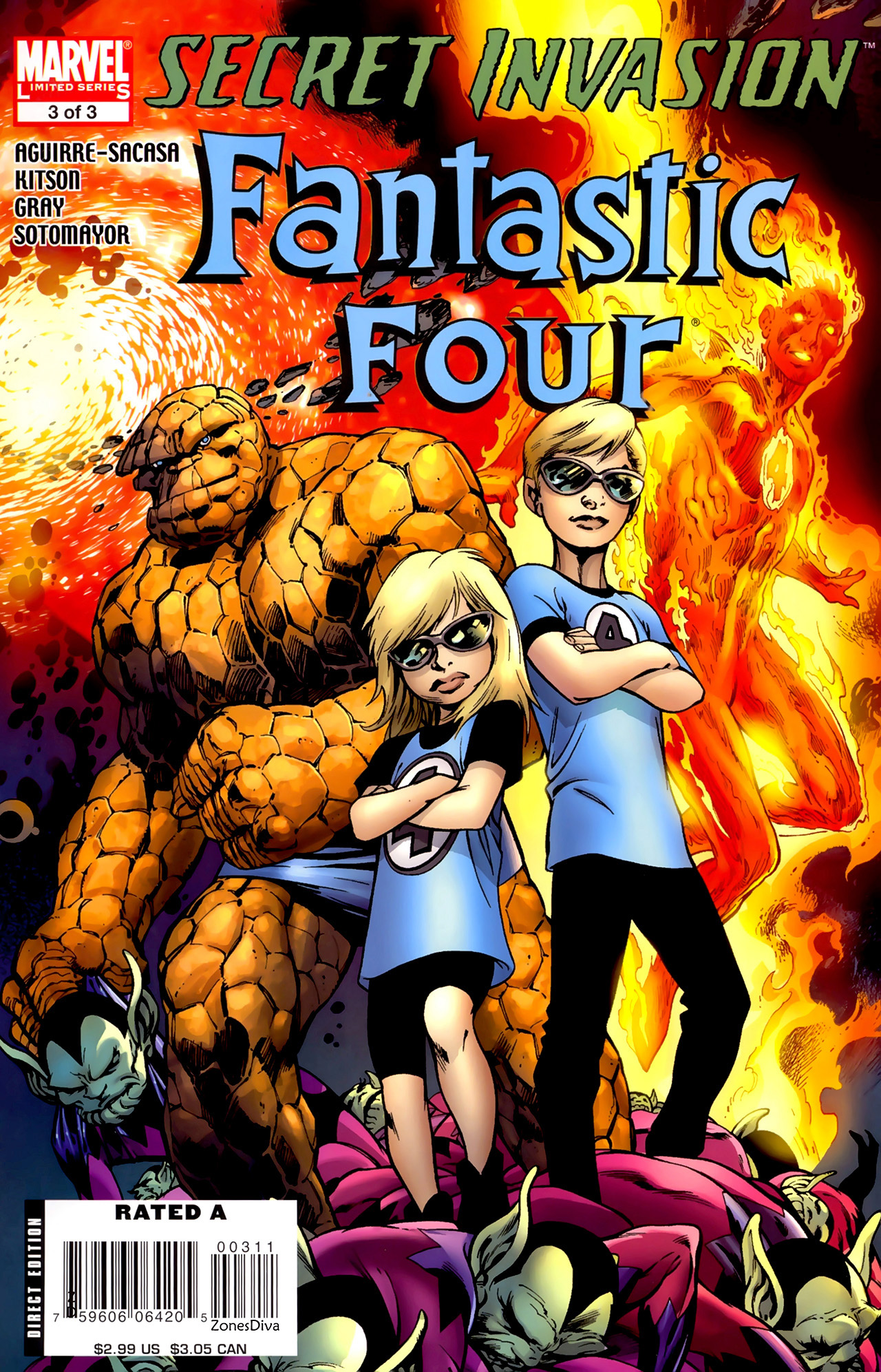 Read online Secret Invasion: Fantastic Four comic -  Issue #3 - 1