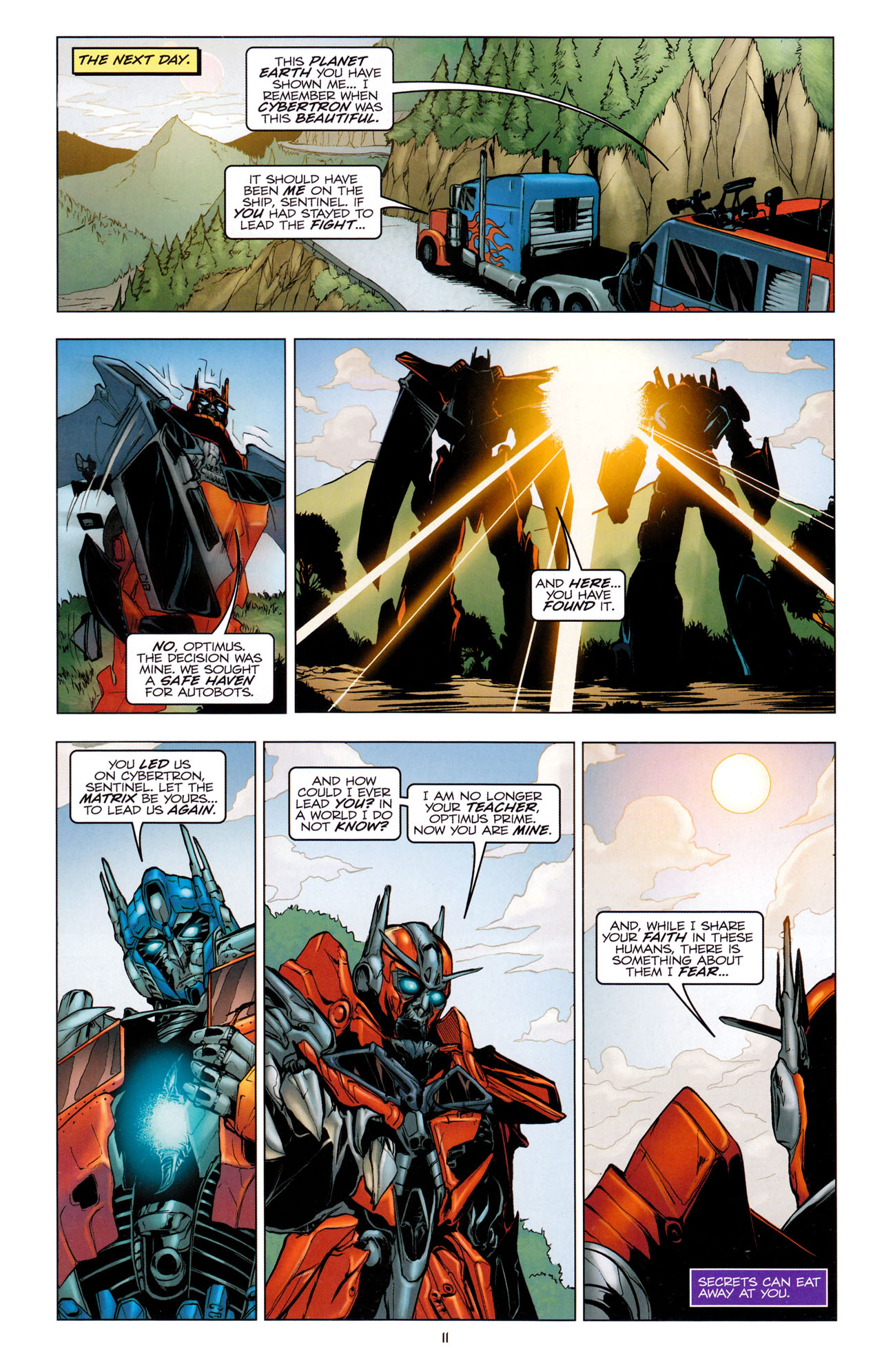 Read online Transformers: Dark of the Moon Movie Adaptation comic -  Issue #2 - 13