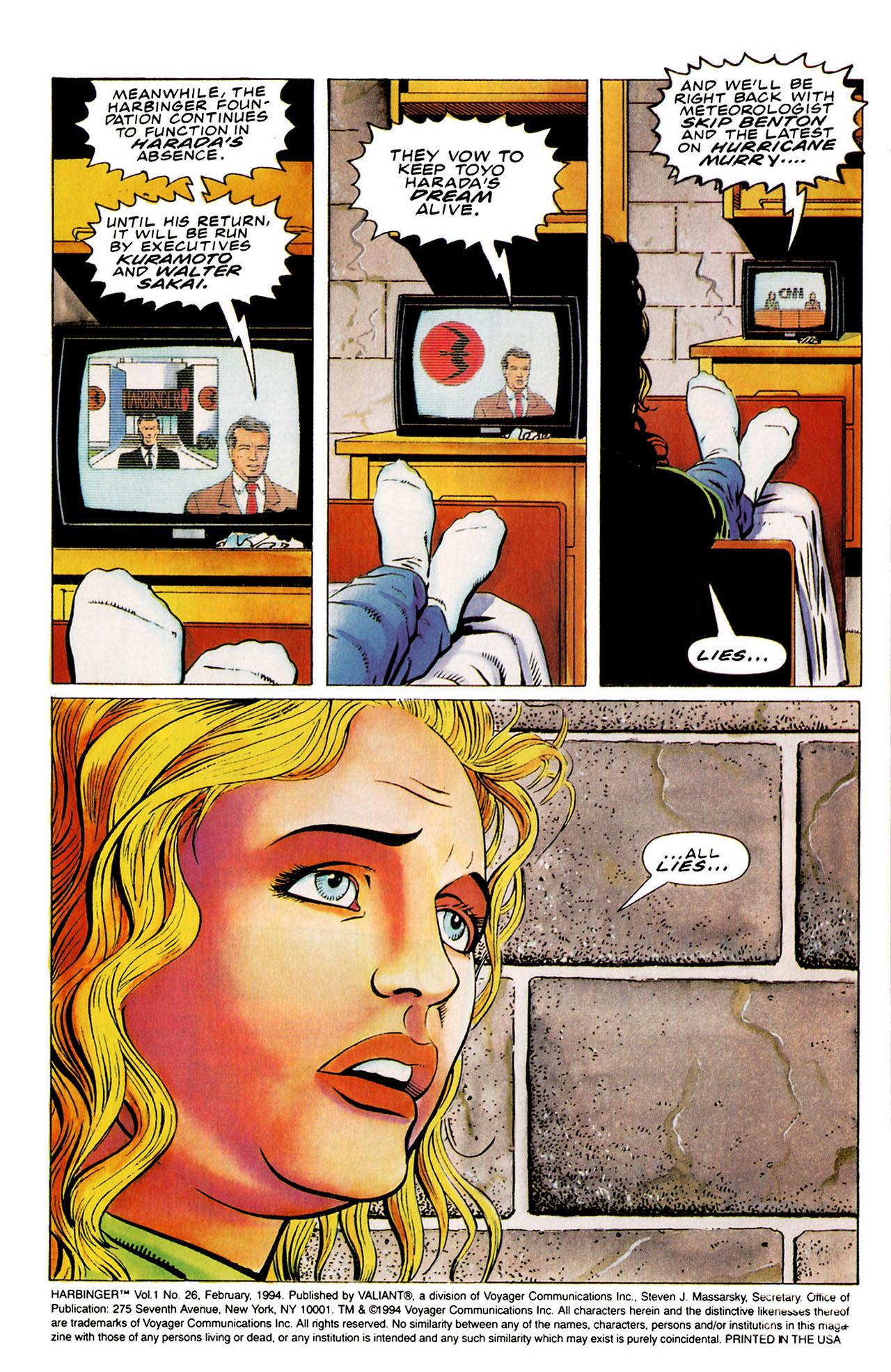 Read online Harbinger (1992) comic -  Issue #26 - 5