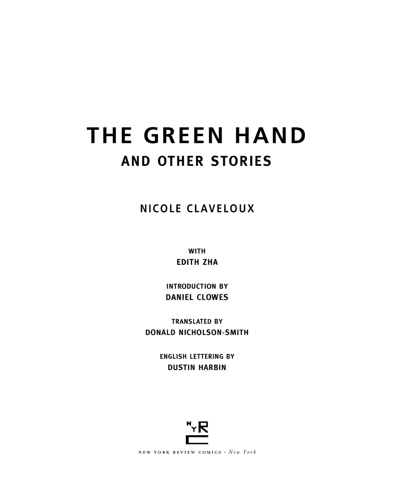 Read online The Green Hand and Other Stories comic -  Issue # TPB - 4