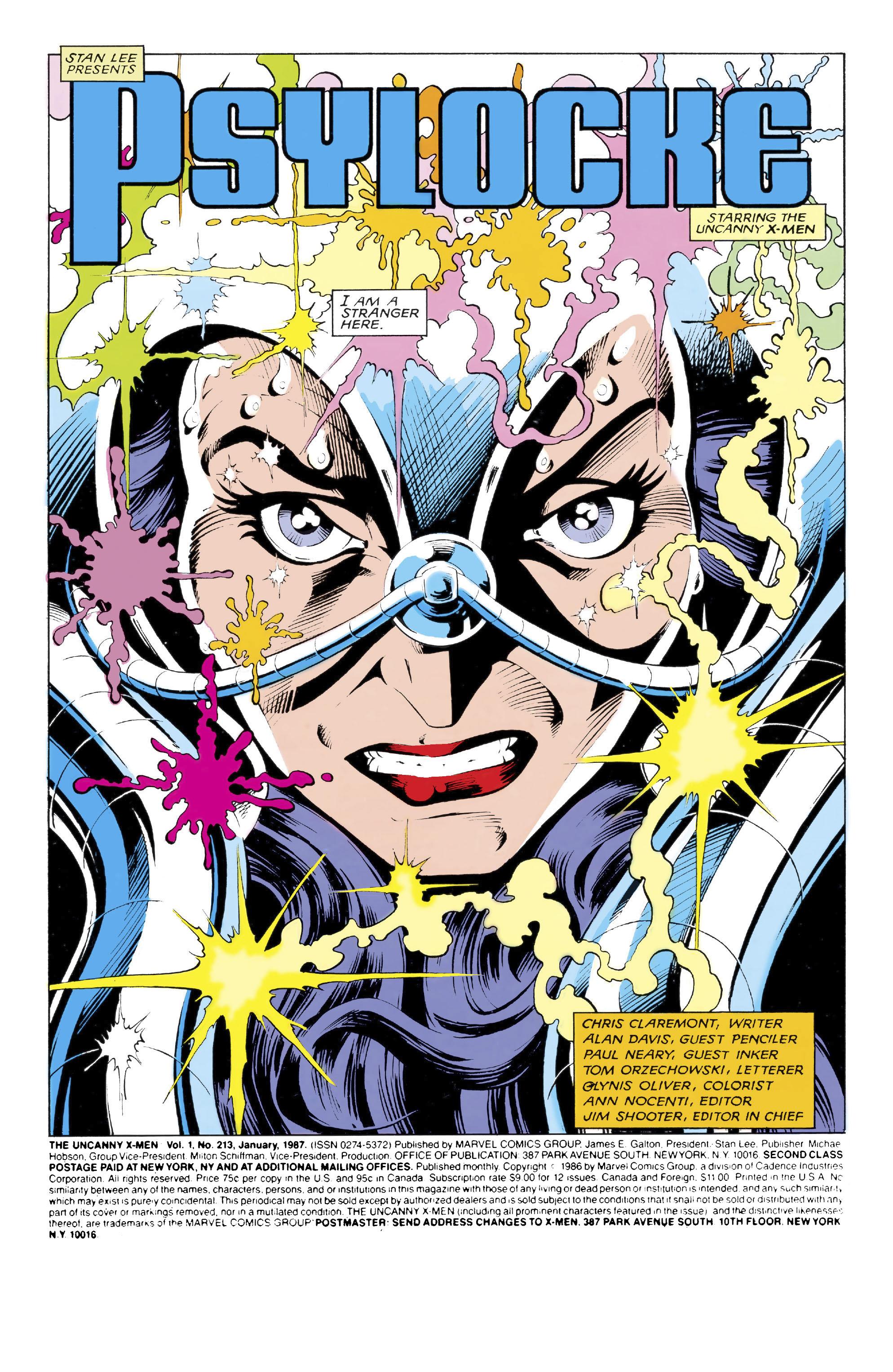 Read online Uncanny X-Men (1963) comic -  Issue #213 - 2