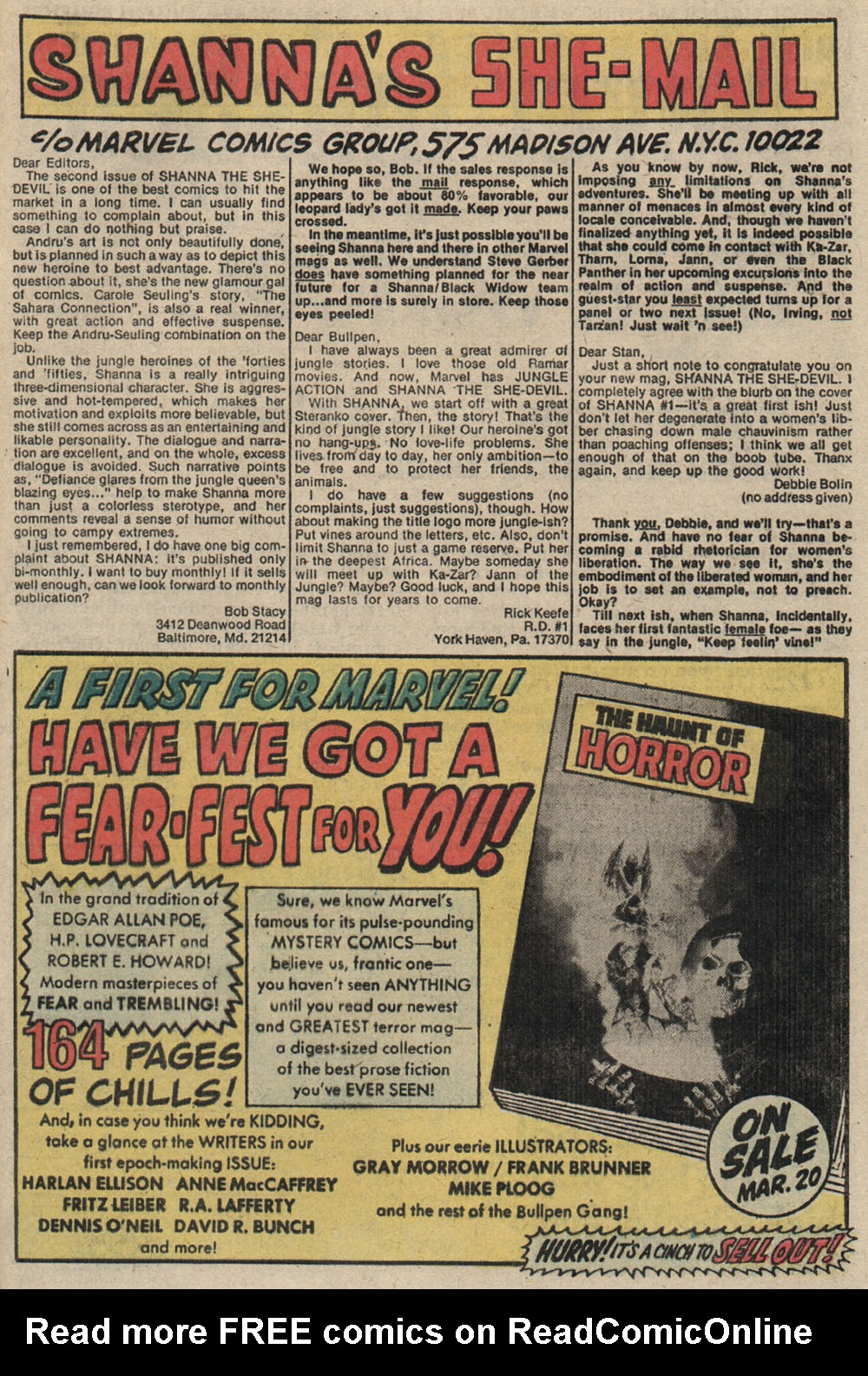 Read online Shanna, the She-Devil (1972) comic -  Issue #4 - 22