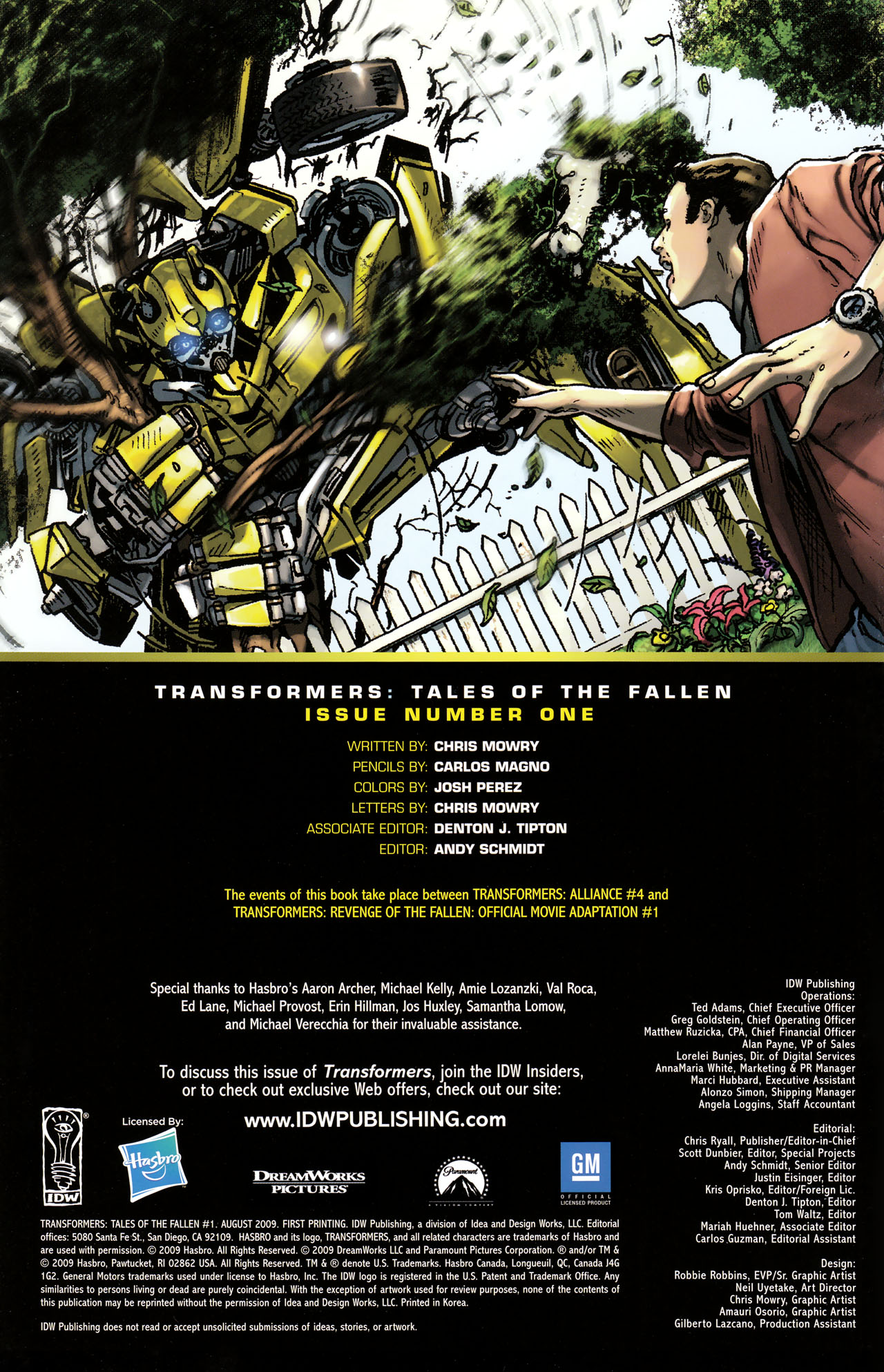 Read online Transformers: Tales of The Fallen comic -  Issue #1 - 2