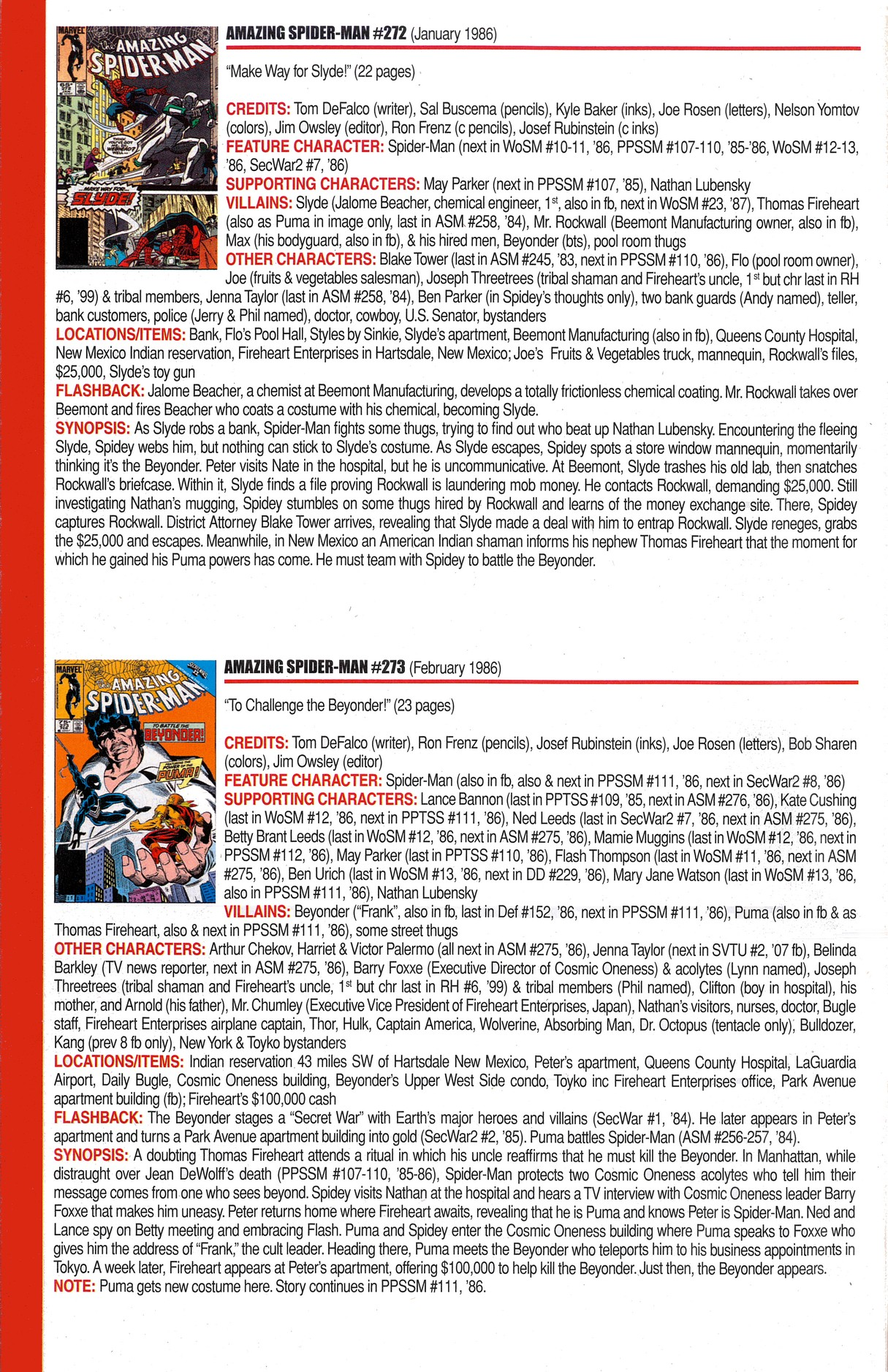 Read online Official Index to the Marvel Universe comic -  Issue #6 - 16