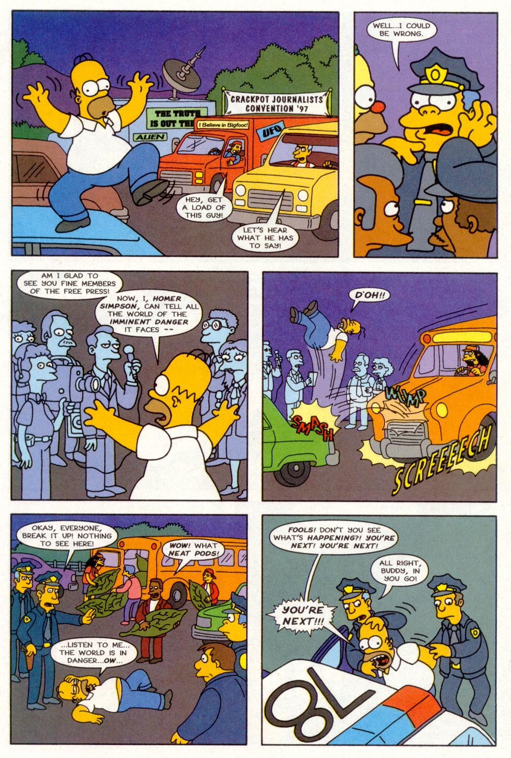 Read online Treehouse of Horror comic -  Issue #3 - 22