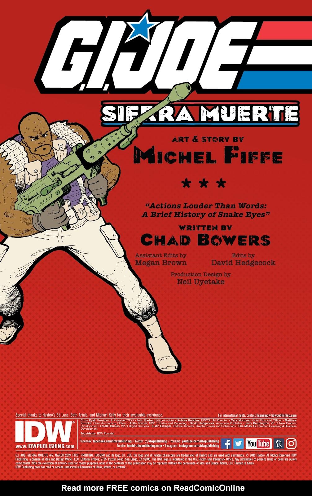 Read online G.I. Joe: Sierra Muerte comic -  Issue #2 - 2