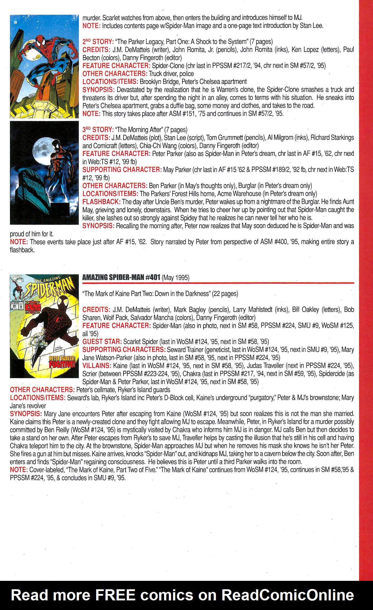 Read online Official Index to the Marvel Universe comic -  Issue #9 - 23